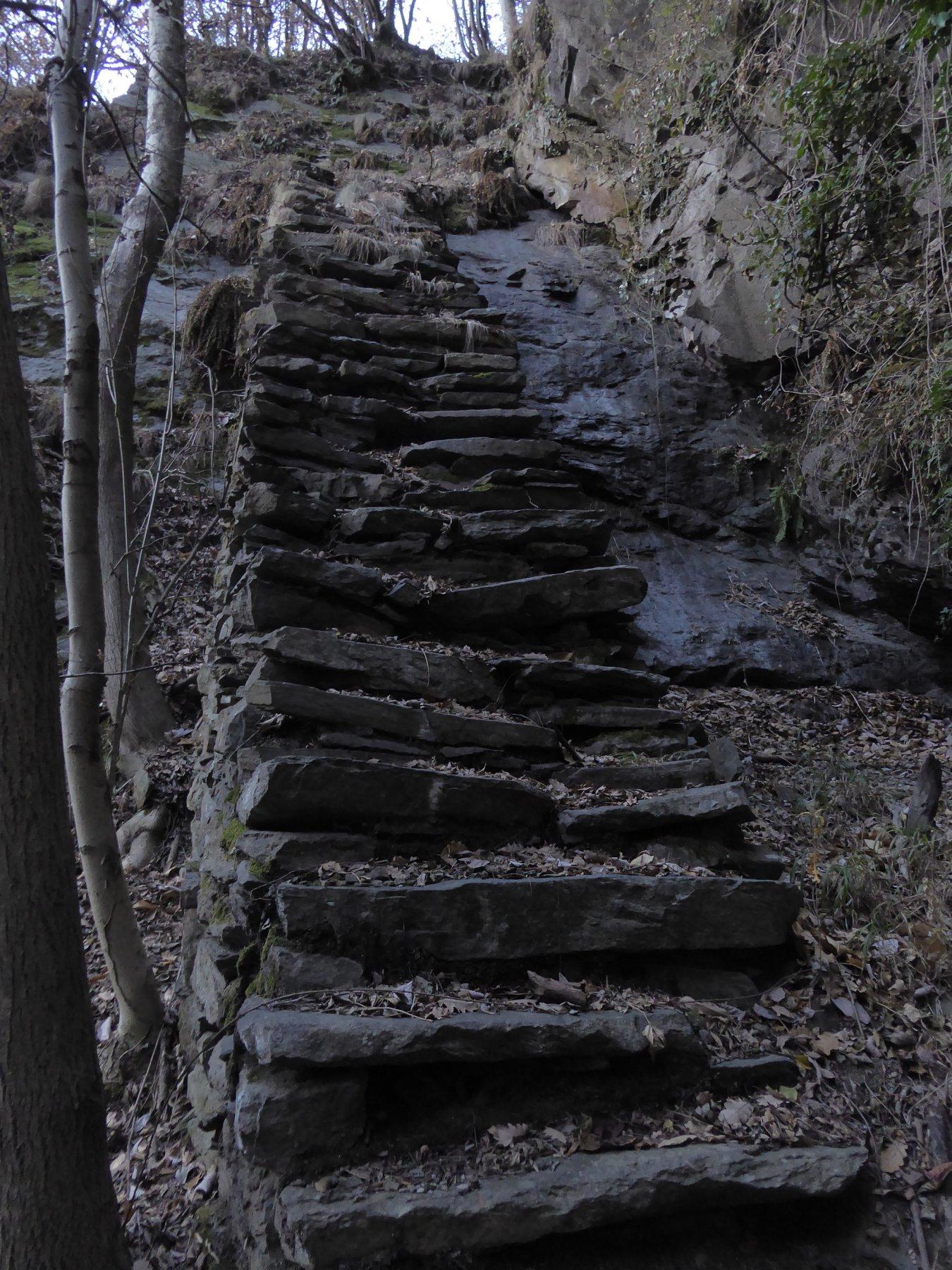 La scala di pietre