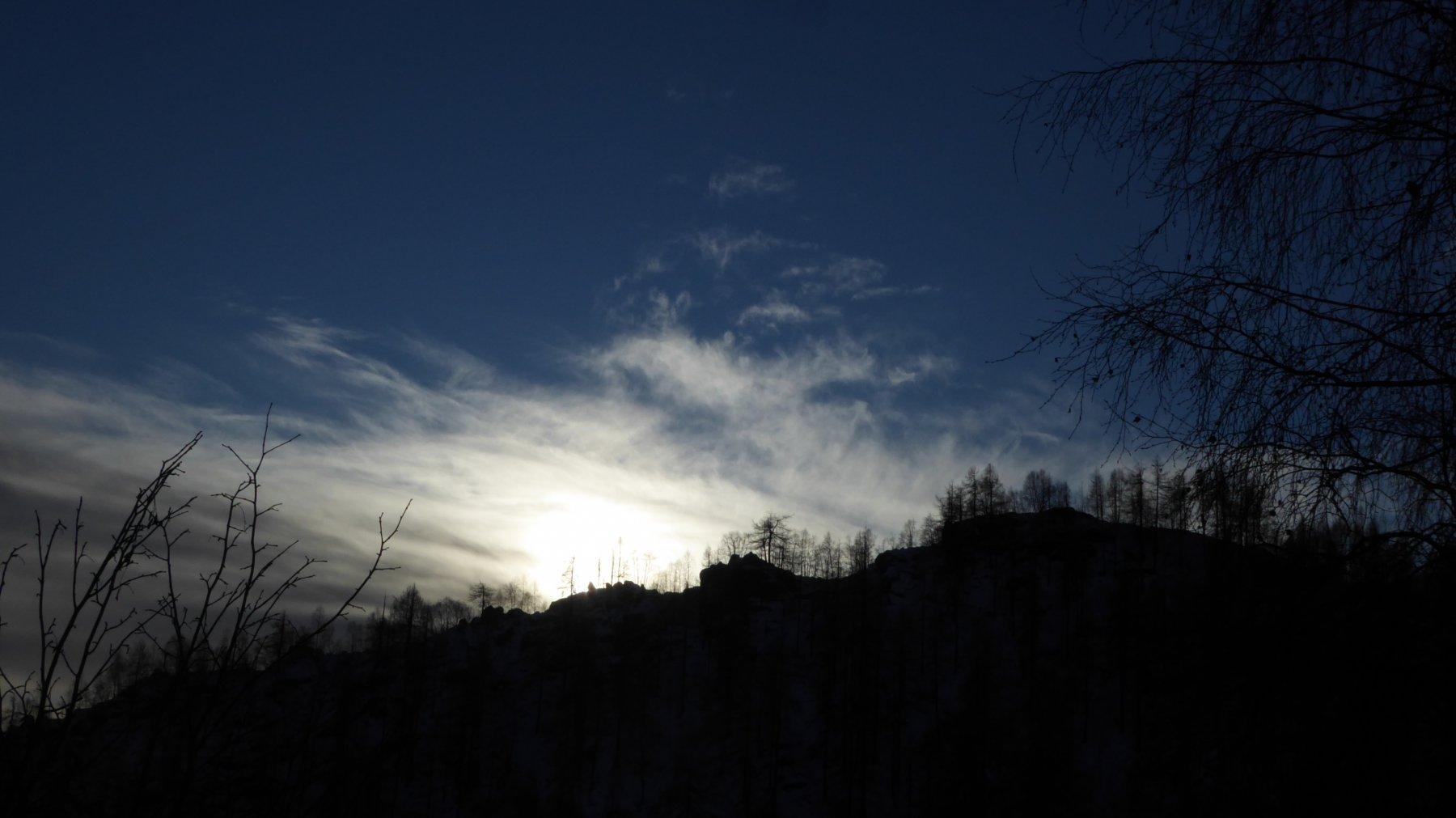 La cresta di quota 1504, posta sotto l'Alpe Reis