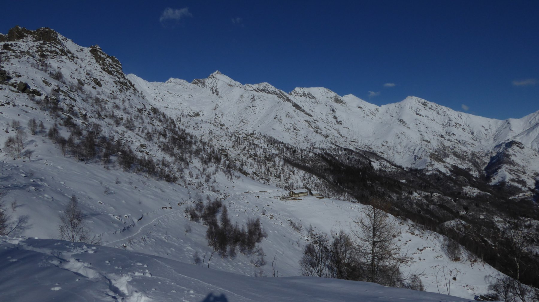 Panorama sul versante Ribordone