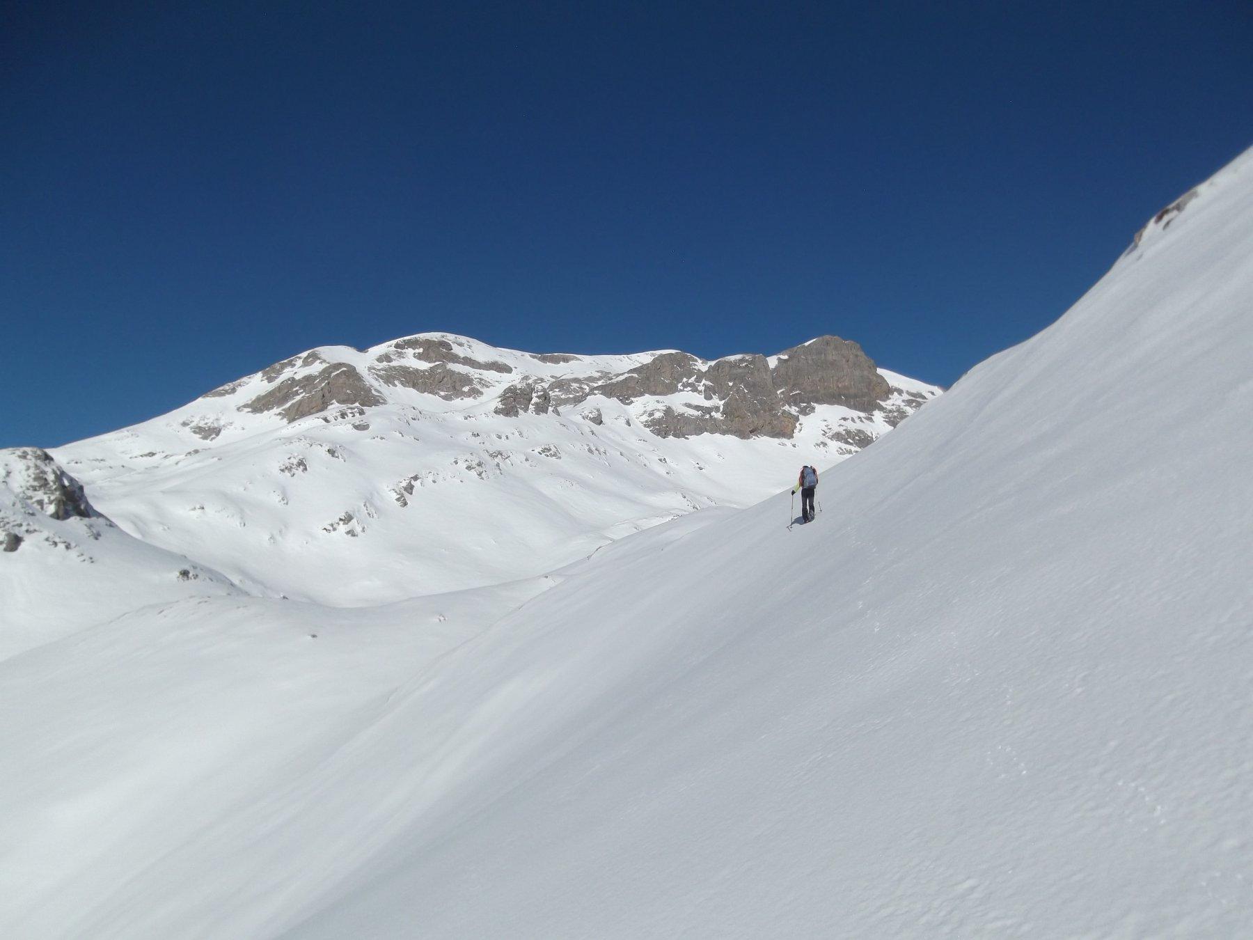 Ampi pendii di neve portante.