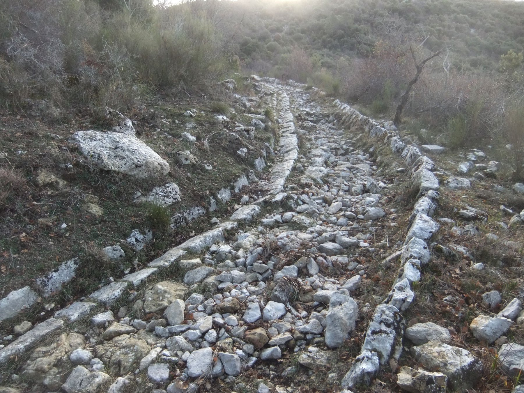 La bella strada militare verso il Col Verroux