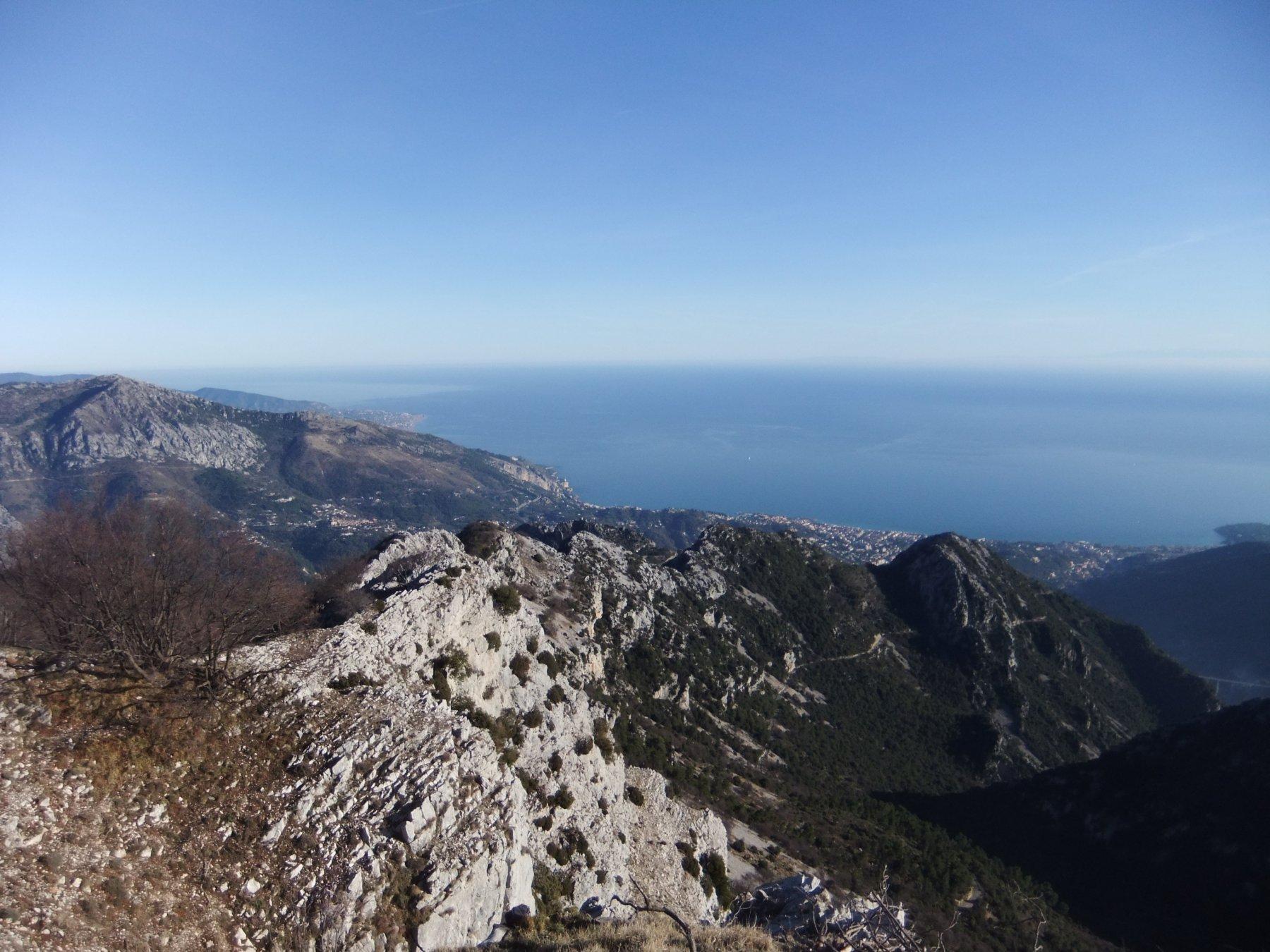 La cresta della Cime de Baudon