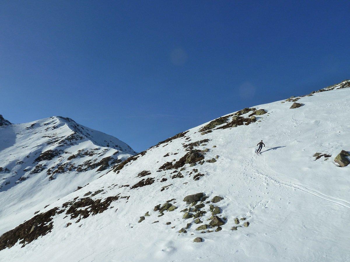 in alcuni tratti neve trasformata