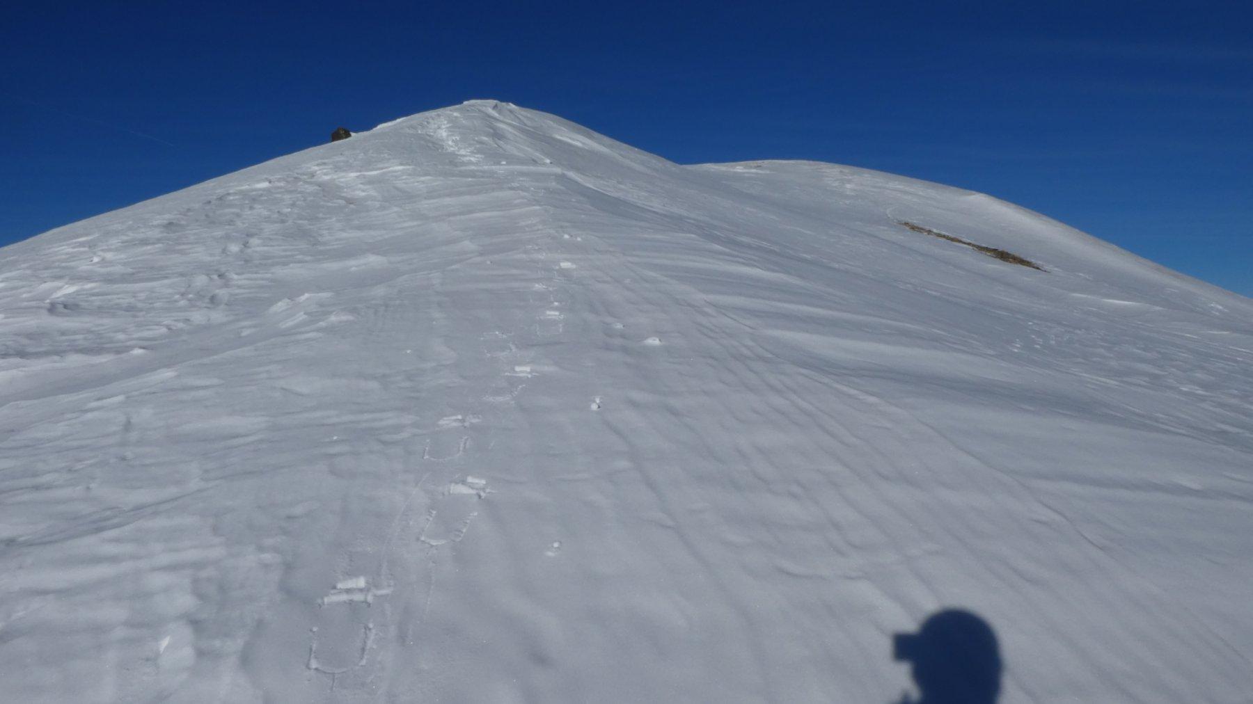 il facile crestone finale che porta in vetta al Monte Faraut
