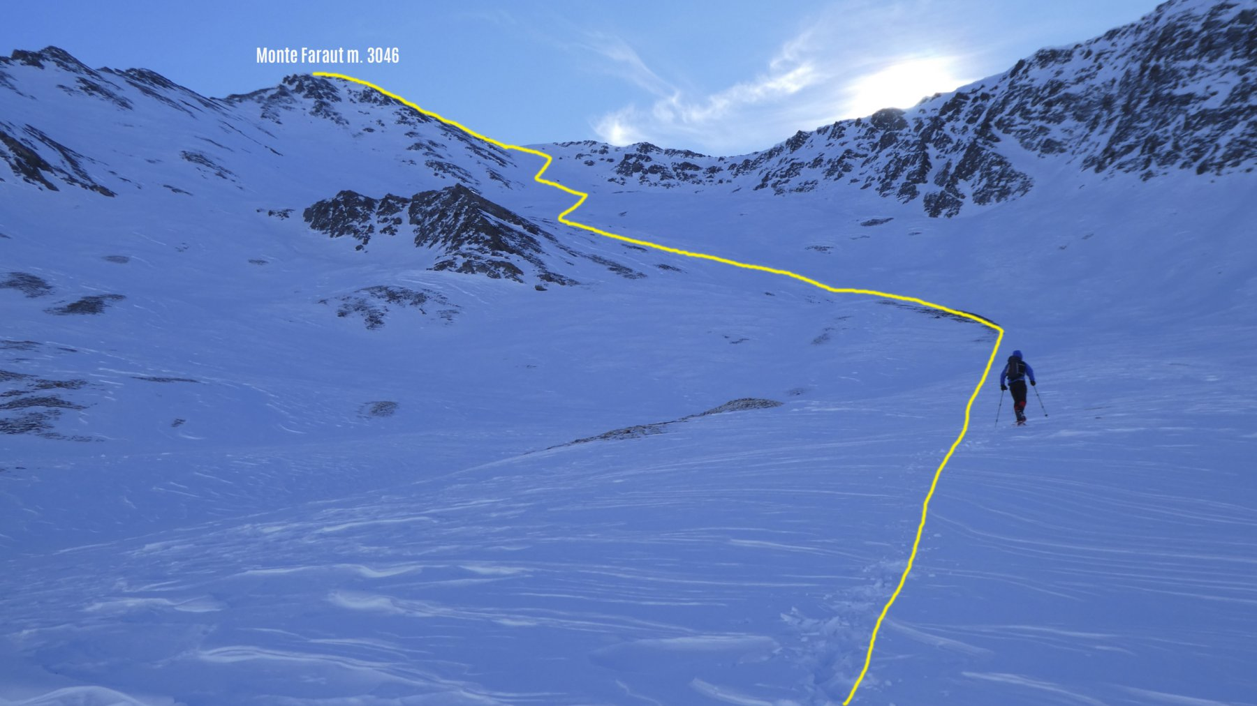 salendo verso il Monte Faraut, i pendii finali