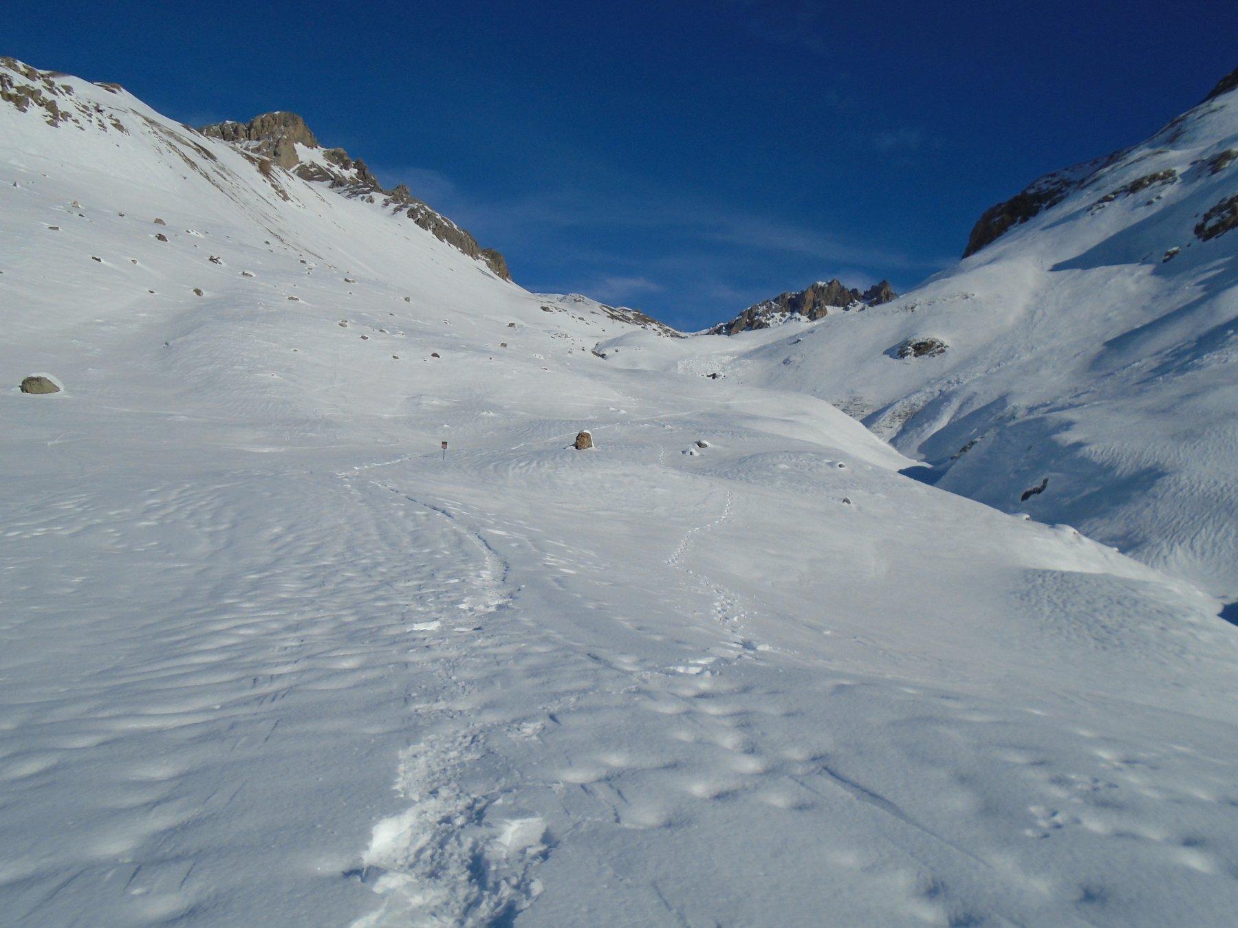 C'è più neve a inizio gita che sui pendii alti