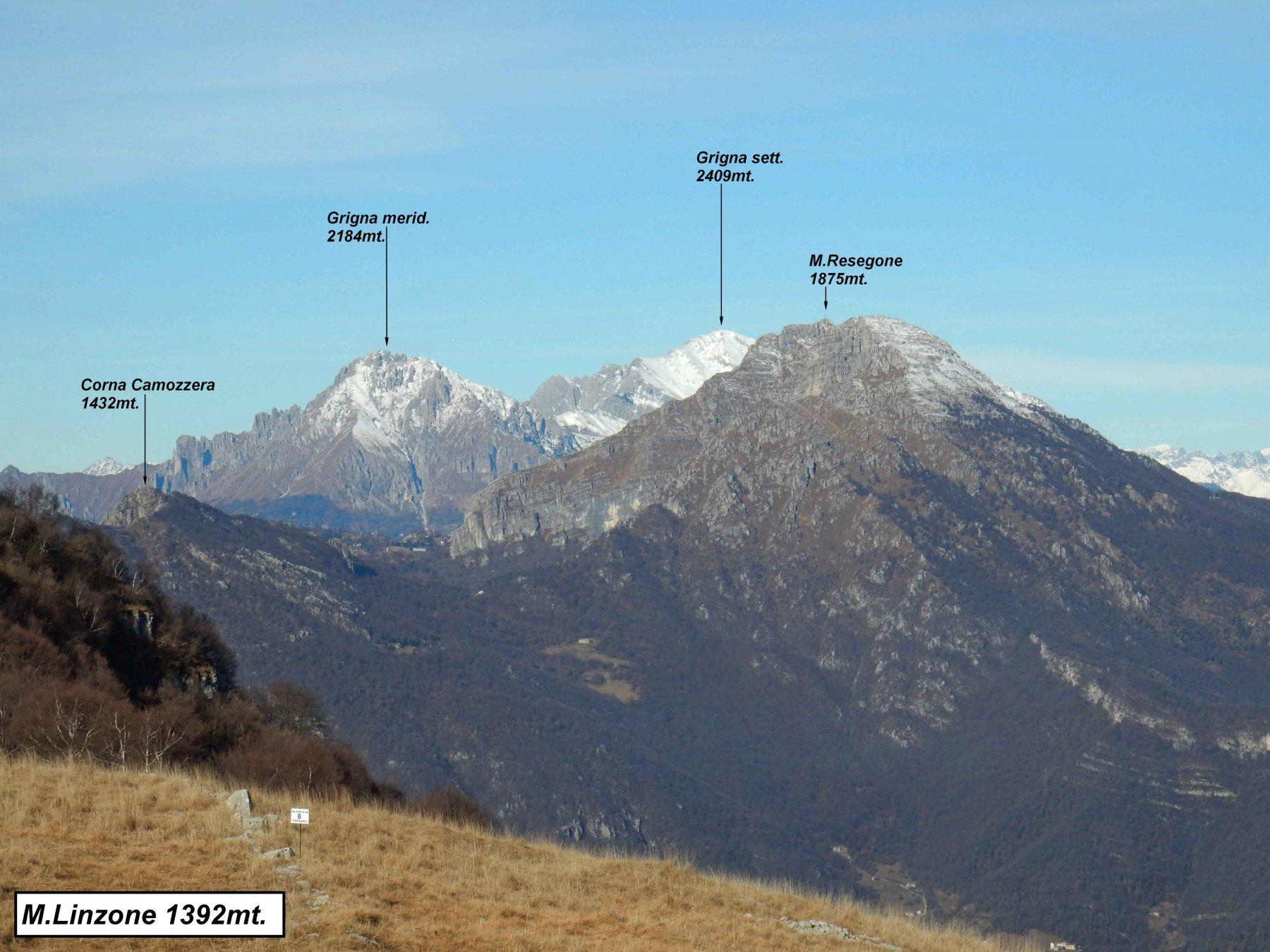 Panorama dal M.Linzone.