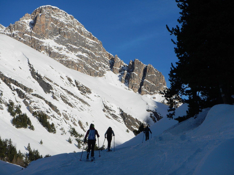 verso l'Alpe Lauzet 1950 m.