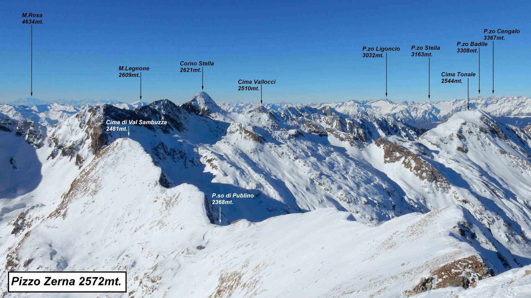 Panorama dal P.zo Zerna.