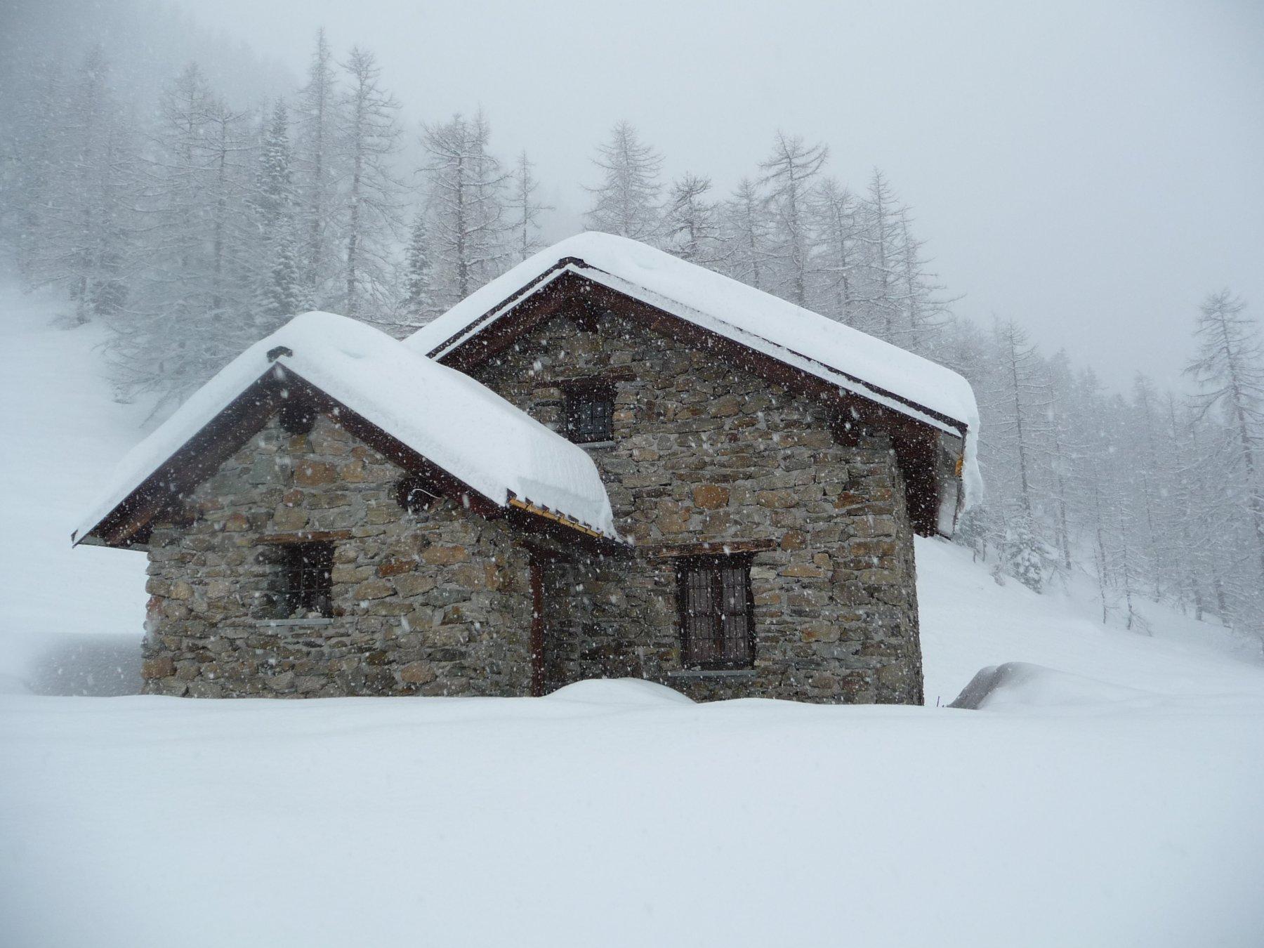 Nevicata abbondante al Gias