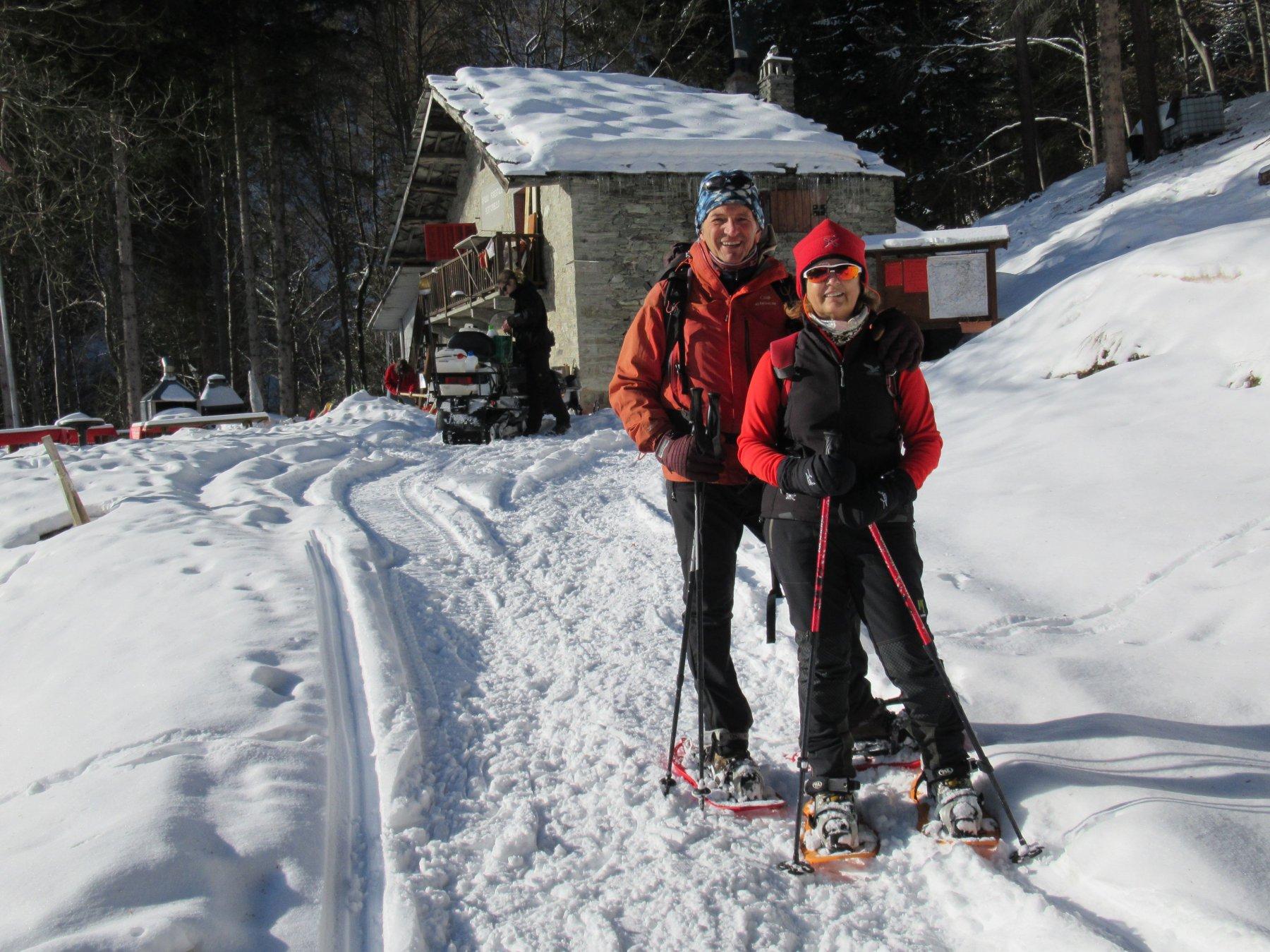 Con mia moglie al rifugio Bertorello