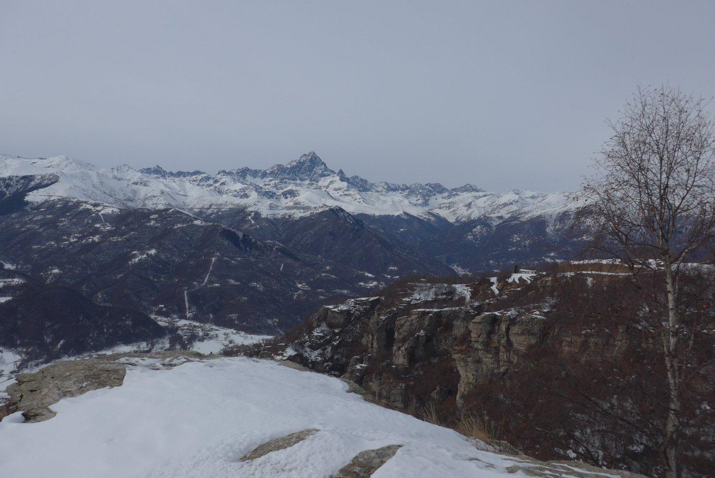 Dalla Croce panorama sul Monviso