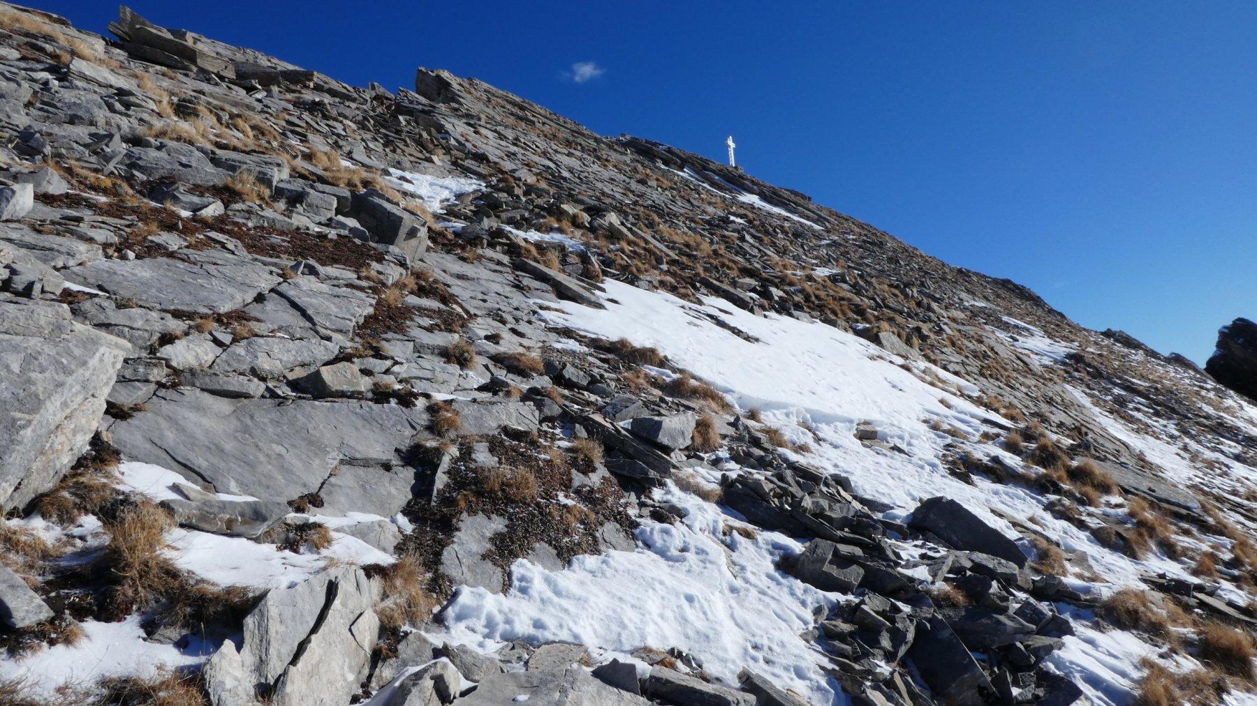 la parte finale del versante Ovest del Monte Pence