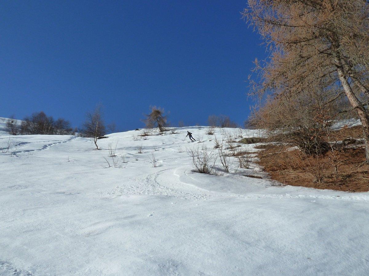 cercandola si trova ottima neve primaverile