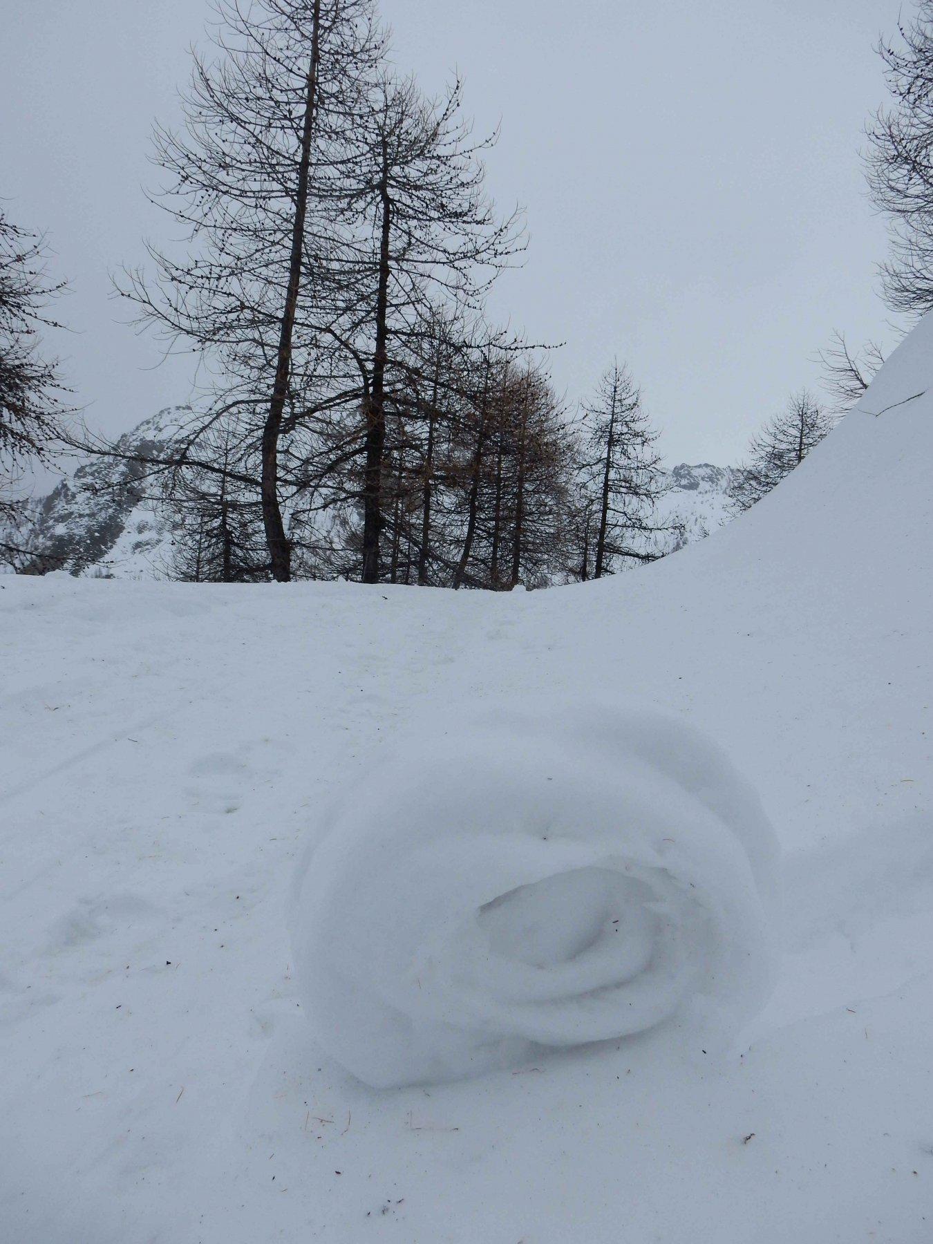 La foto riassume le condizioni della neve di oggi.