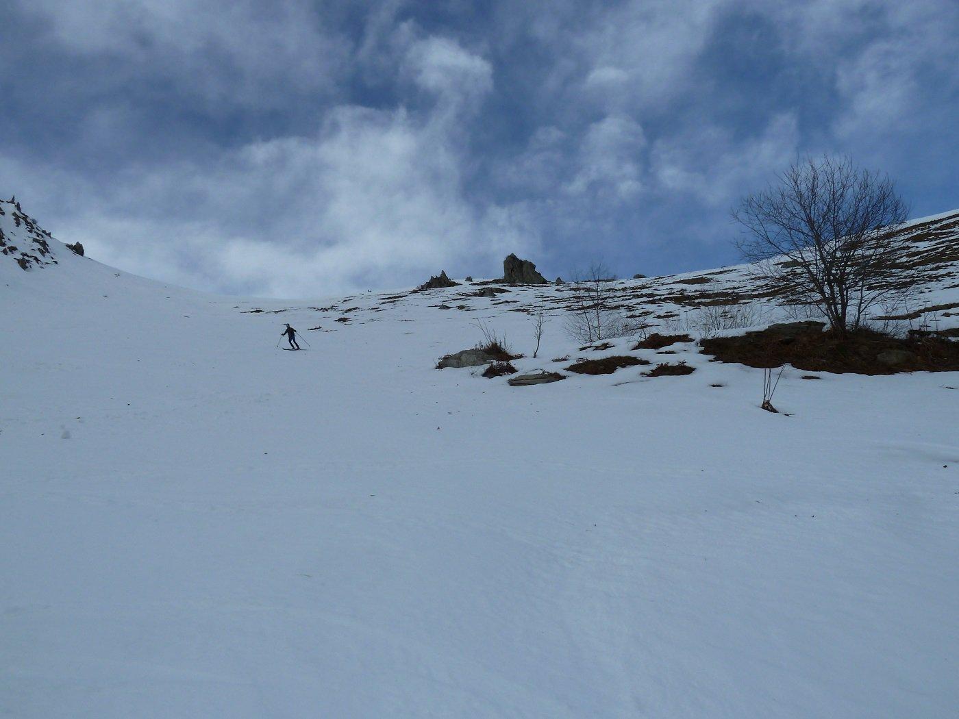 discesa su neve portante