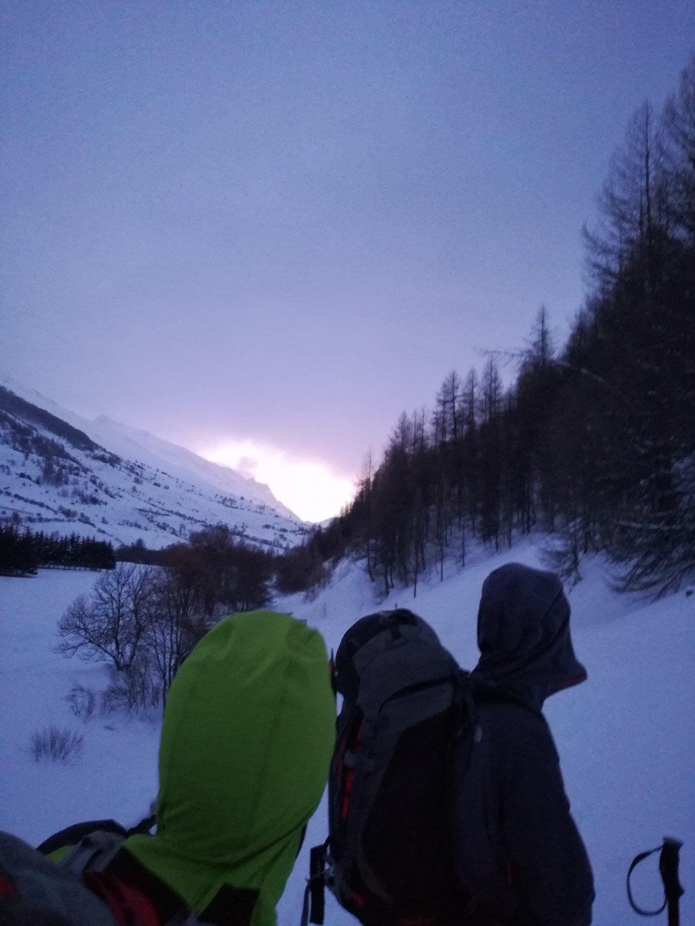 Partenza all'alba