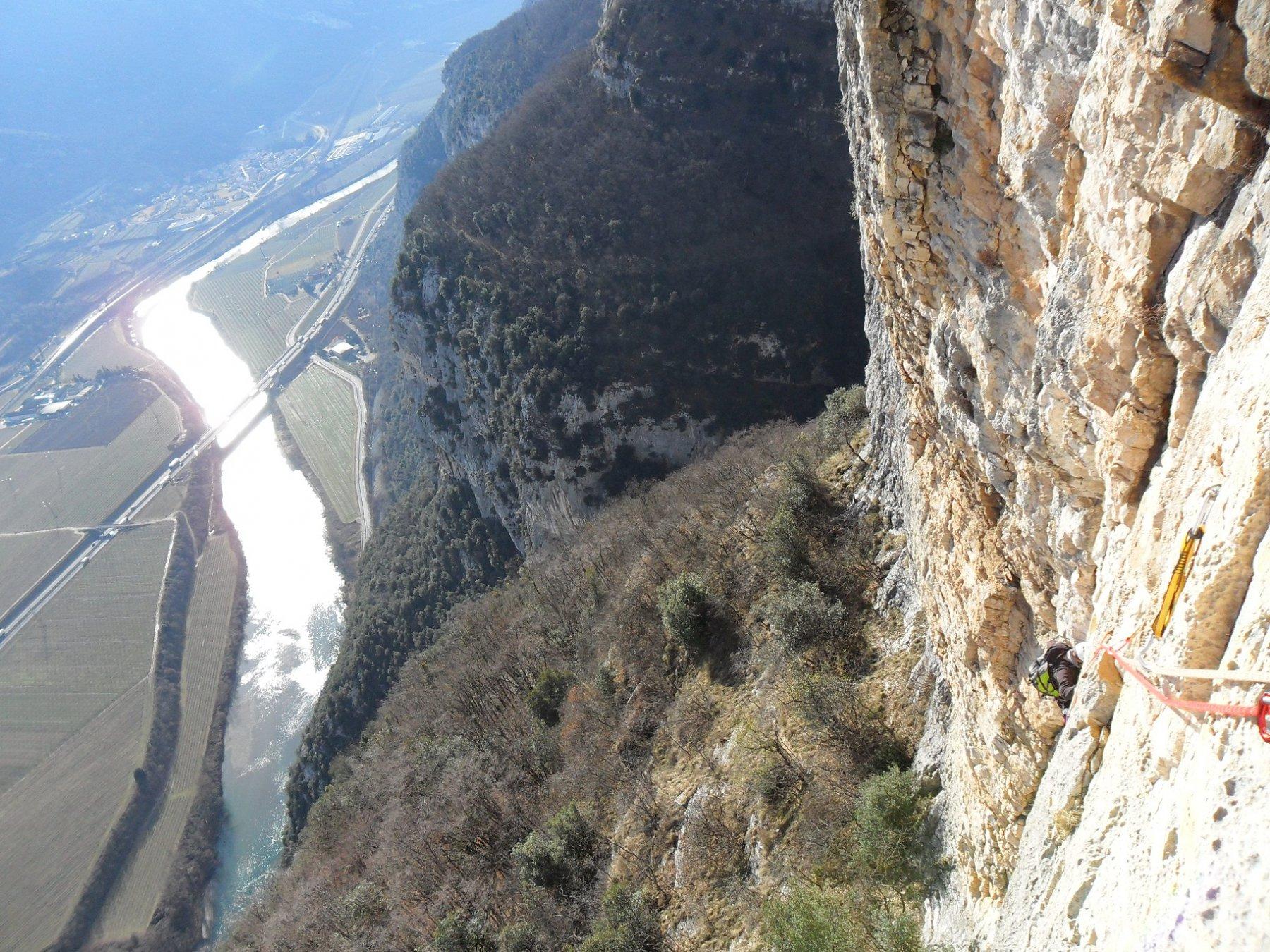 Panorama dal secondo tiro di corda