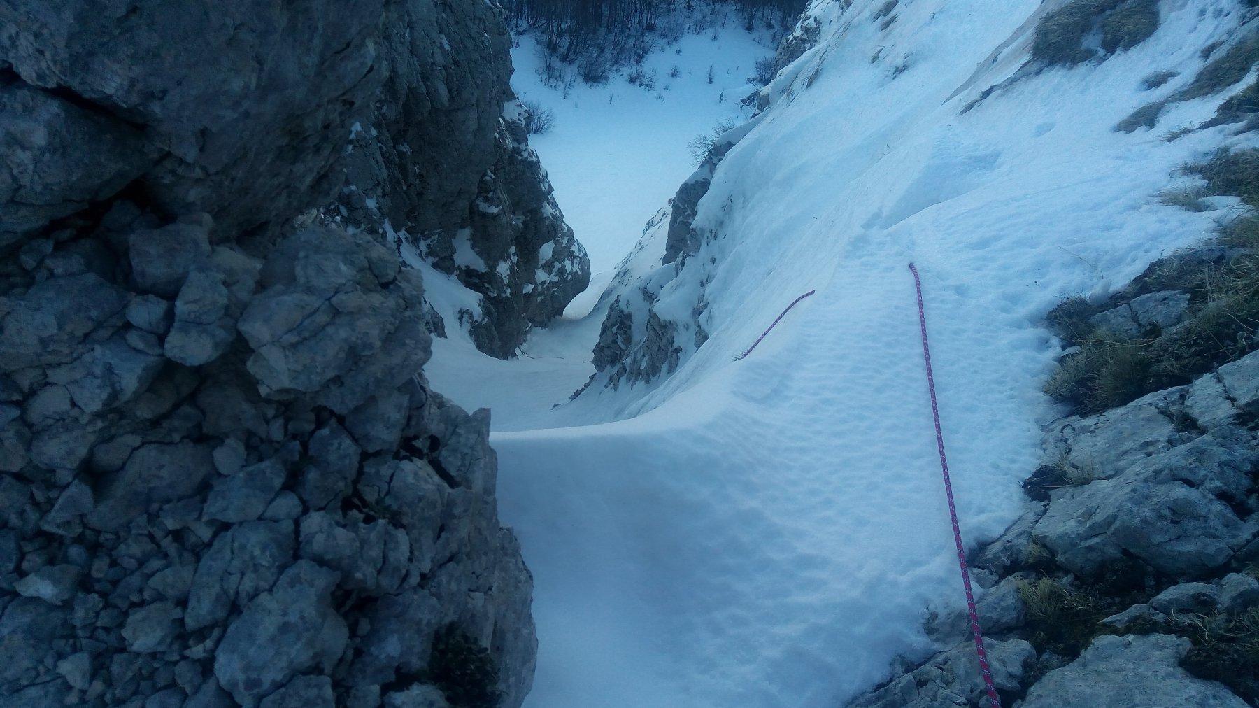 Croce Matese (Monte) Grotta delle Ciaole - Canale di destra 2018-01-04
