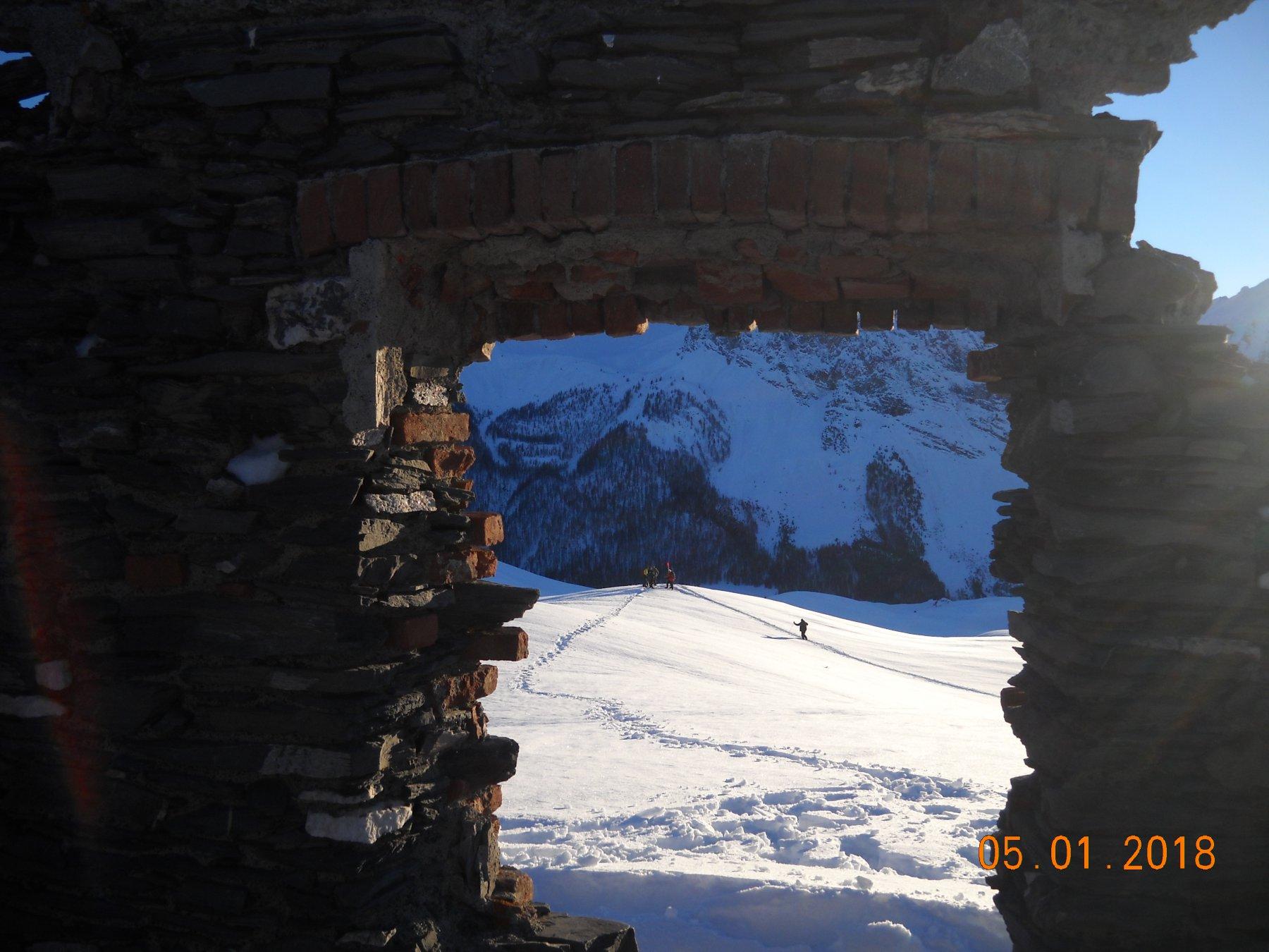 dalla finestra della casermetta CC 2210  mt.