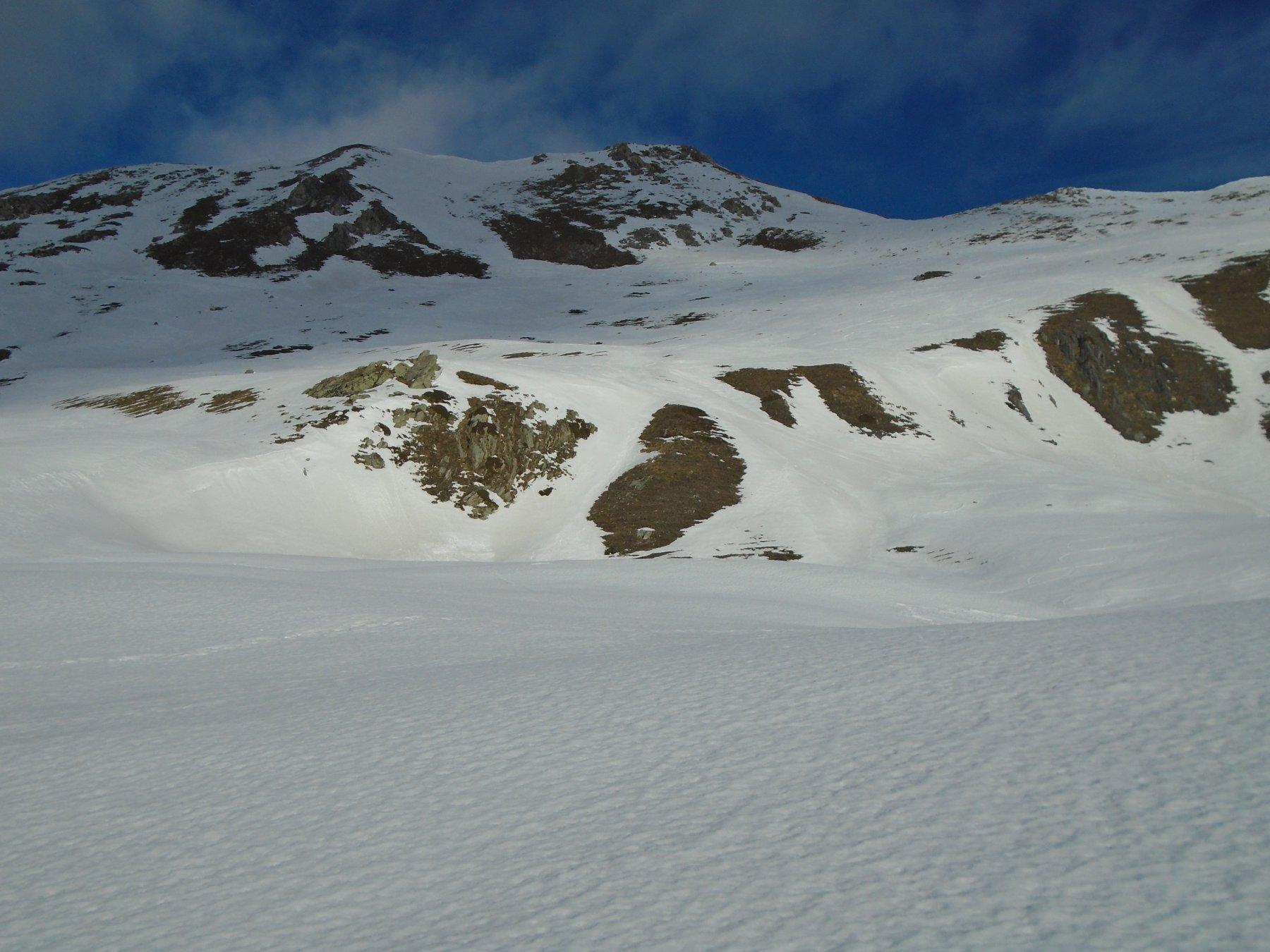 Sul plateau superiore: vetta in vista