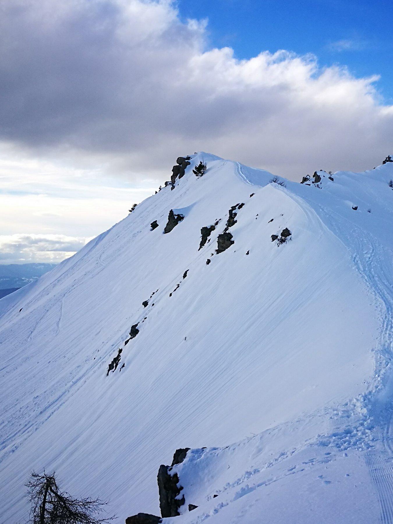 06 - da fine impianti 2113mt, la cresta verso la cima