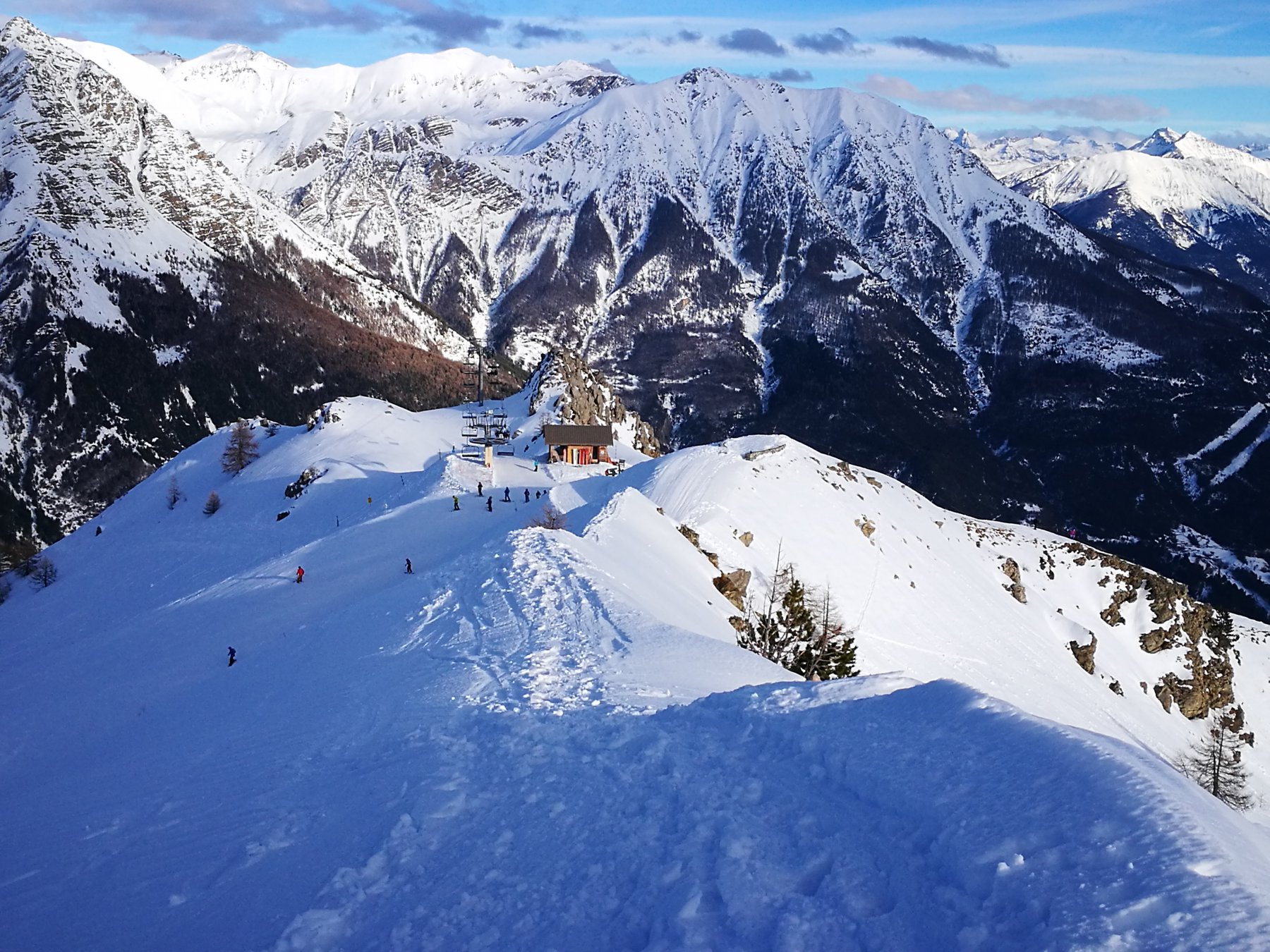 07 - dalla cima la parte finale della cresta percorsa in salita