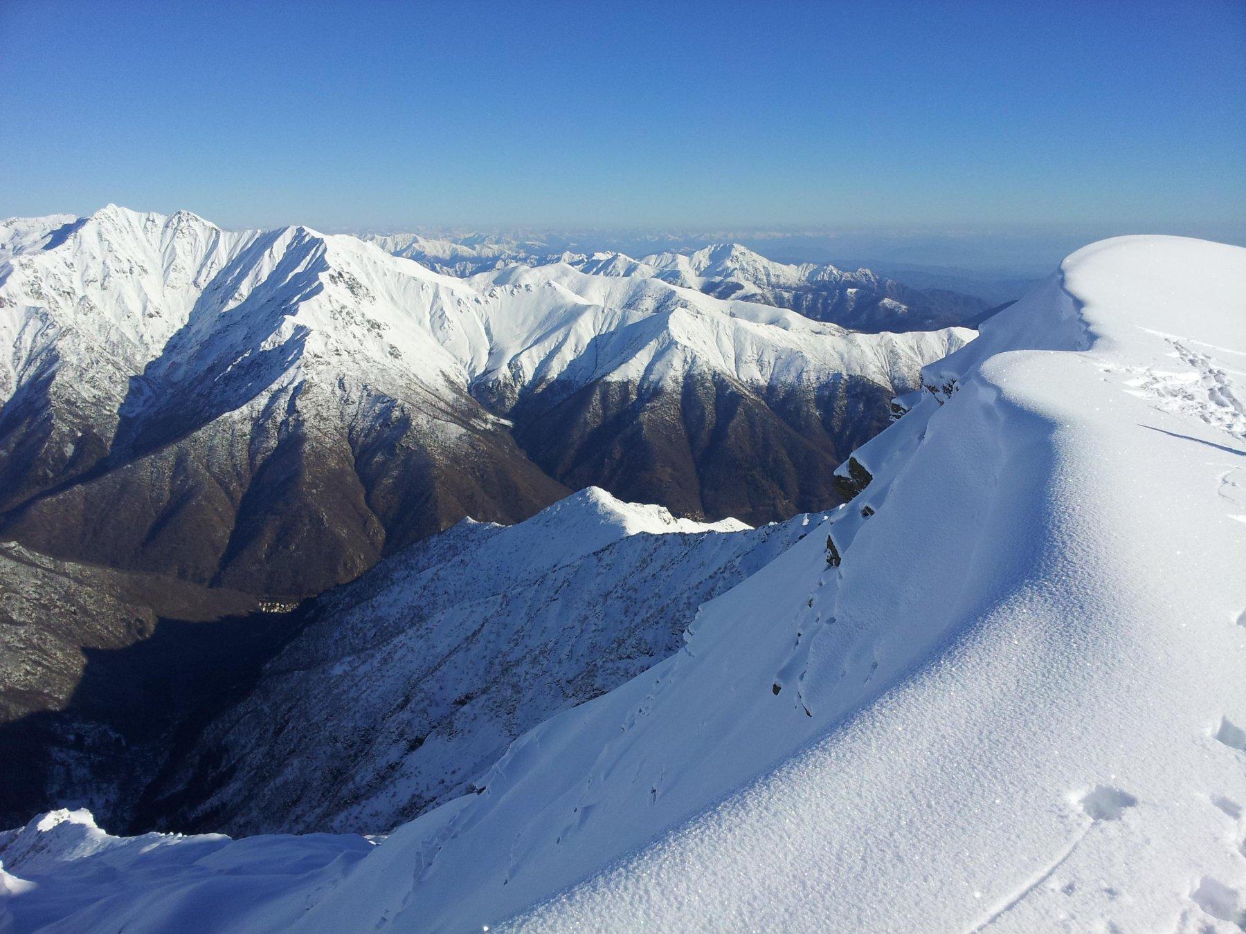 Livello neve in Valle Cervo