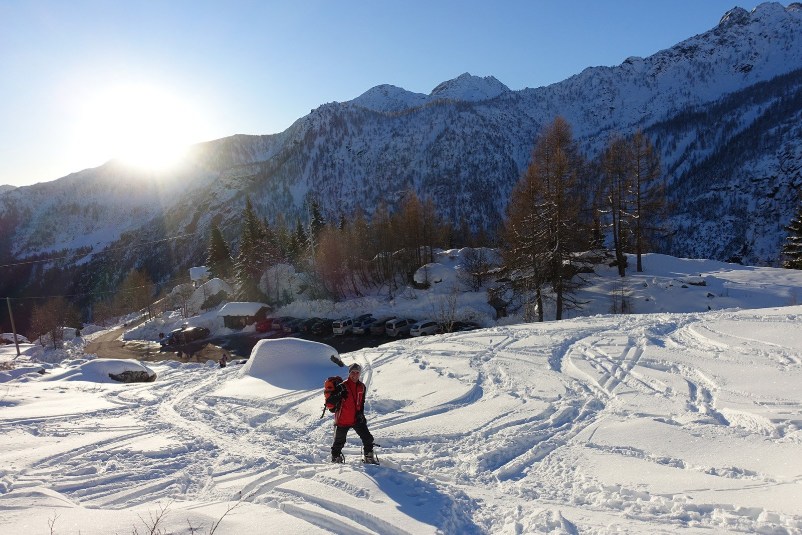 Partenza sopra Petit Mont Blanc