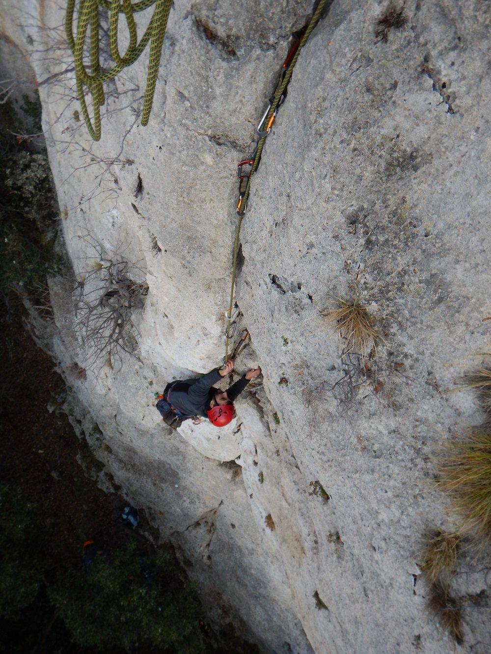Cucco (Monte) Spigolo della Meteora e via Gabi 2018-01-14