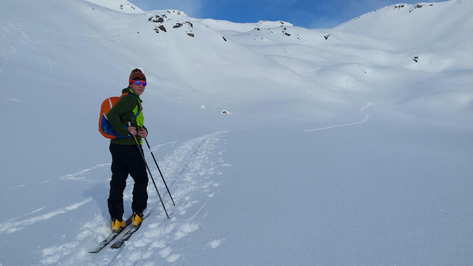 poche tracce di sci