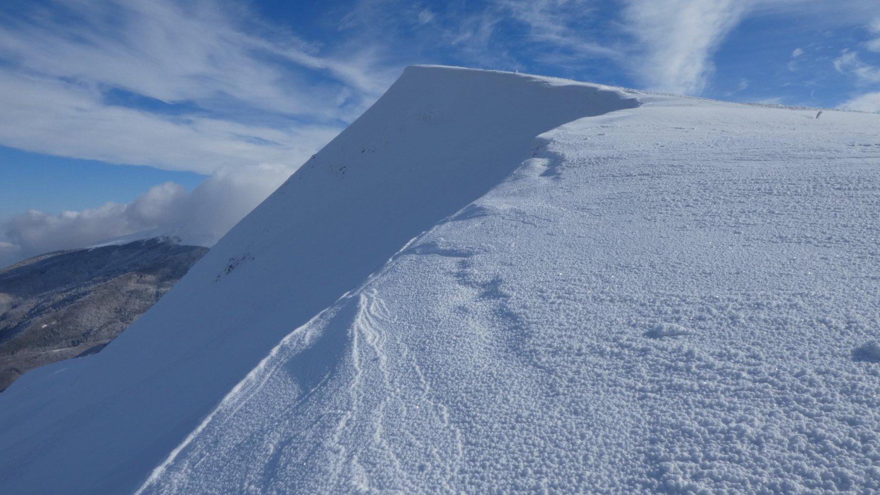 ultimo tratto di cresta prima di arrivare in cima