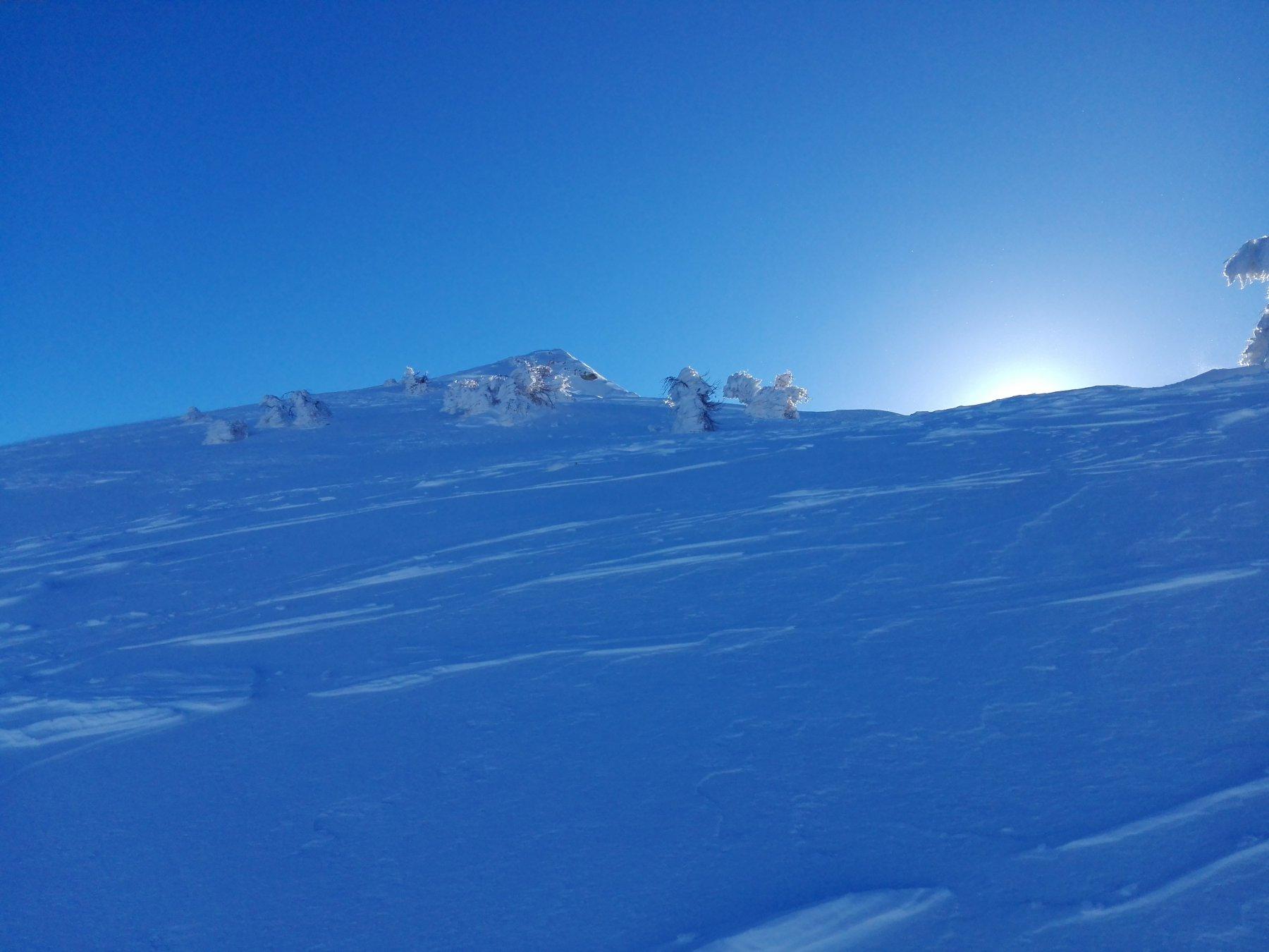 Neve ventata in prossimità della Vetta