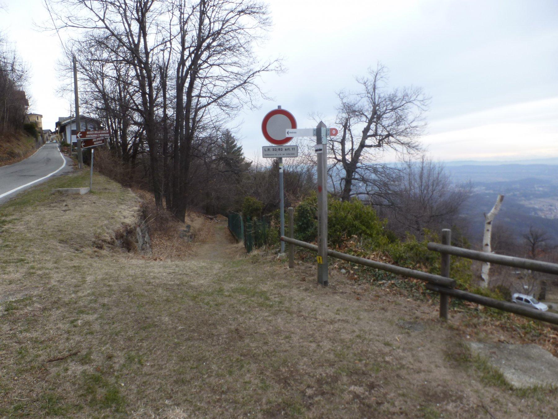 partenza sentiero per paratore
