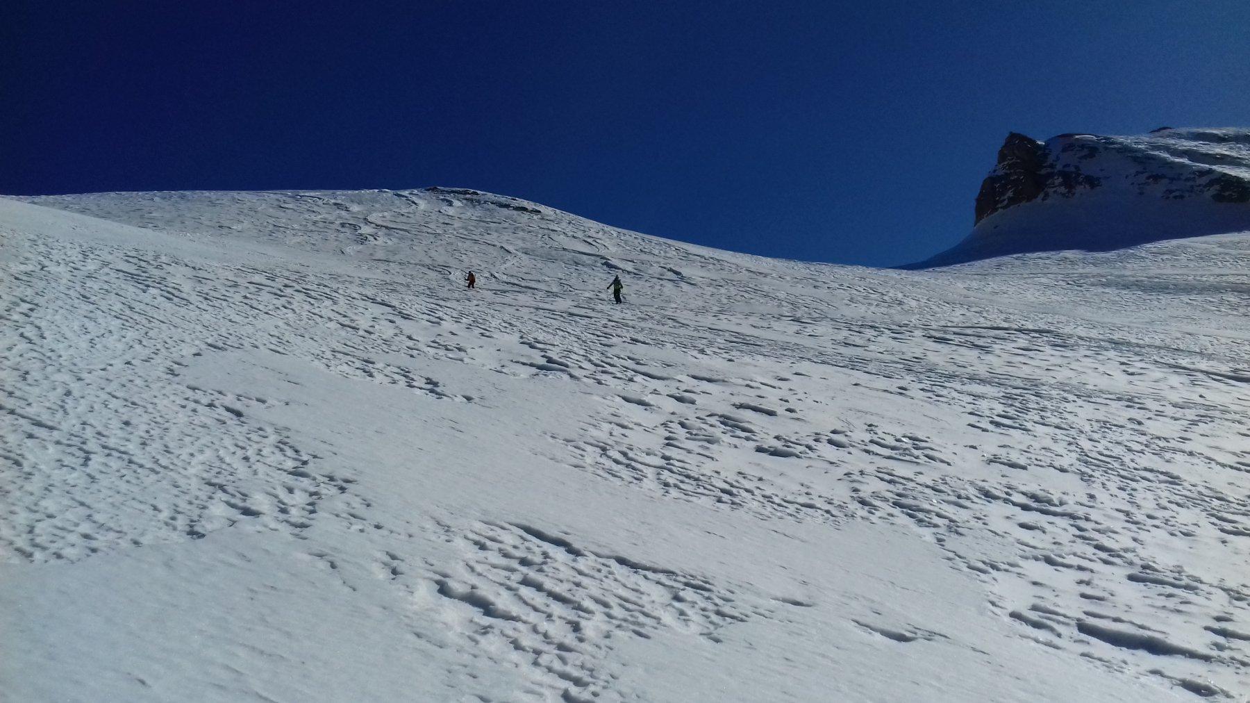 I pendii alti con bella neve!