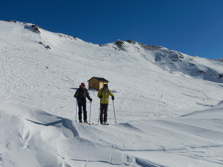 Monte Grum sulla destra e bivacco Roberta Bernardi