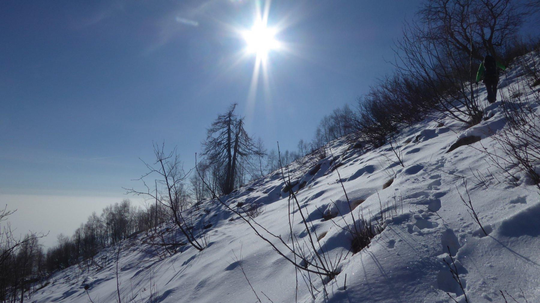 Salita su neve sfondosa!