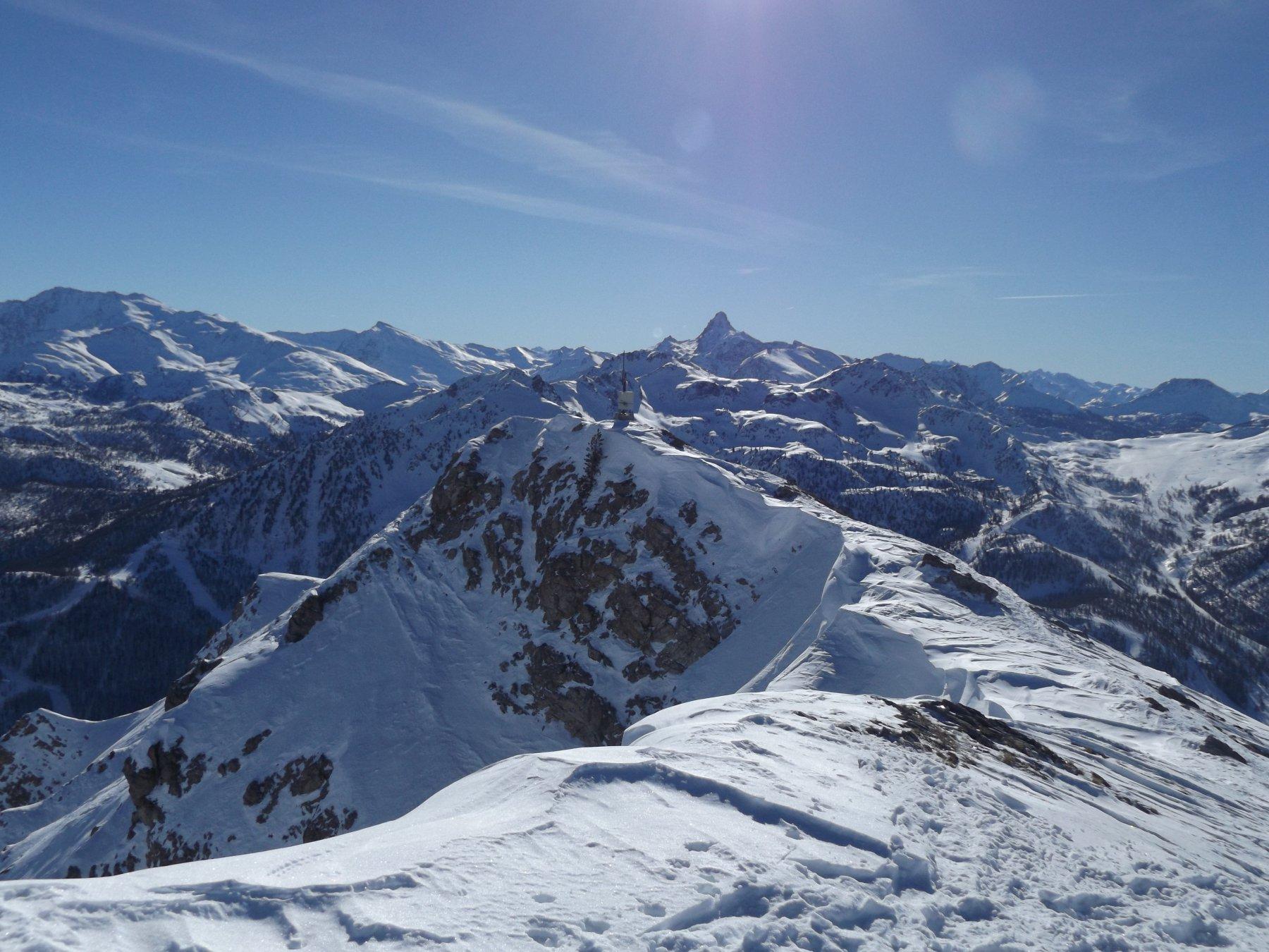 Dalla cima panorama verso il Pic de Rochebrune