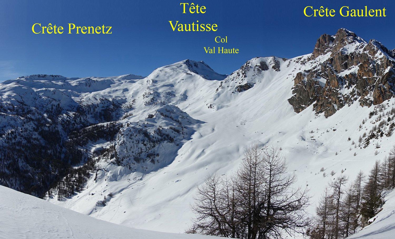 Il vallone della Tête de Vautisse