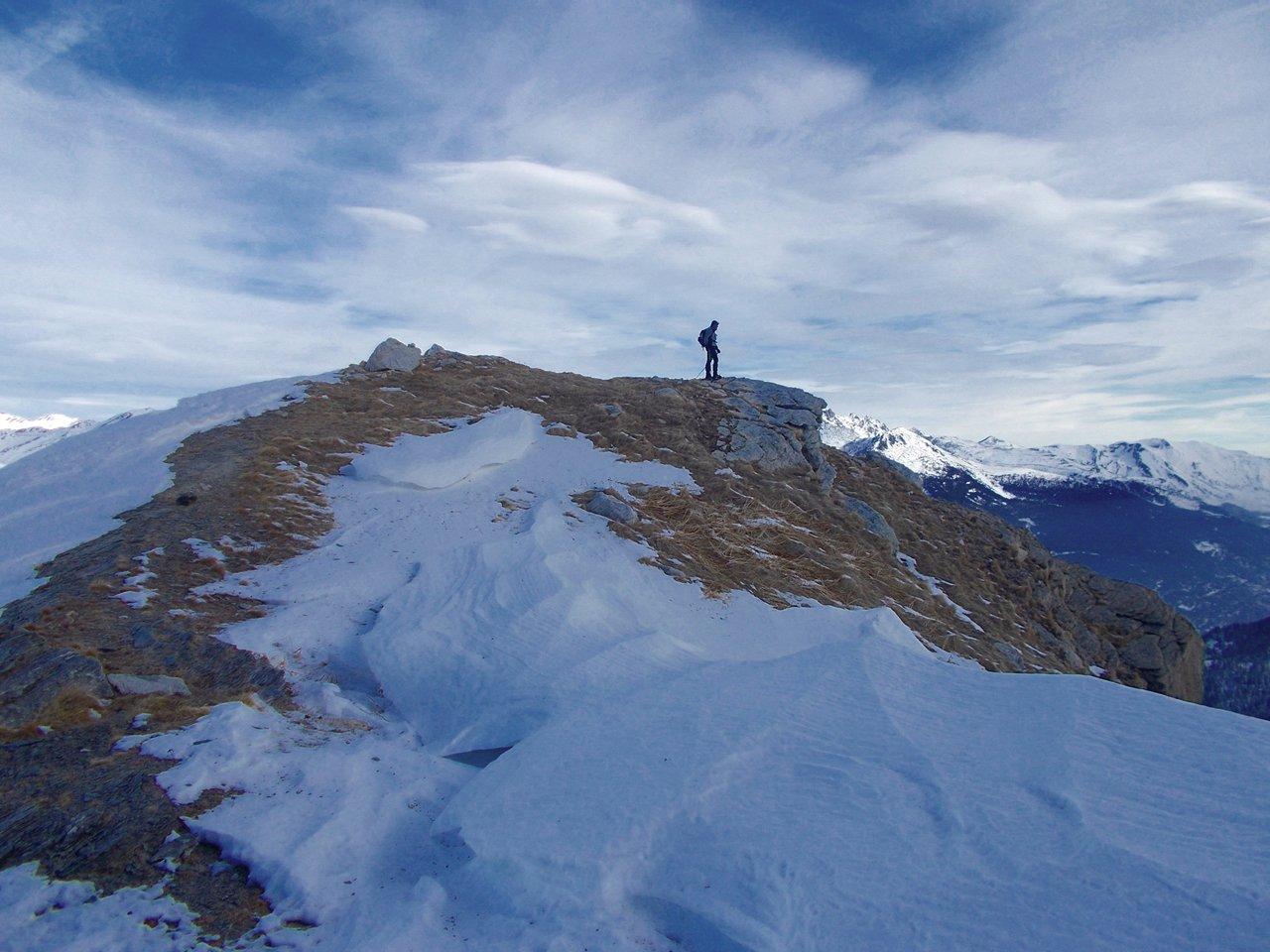 la cima del Bric Rutund