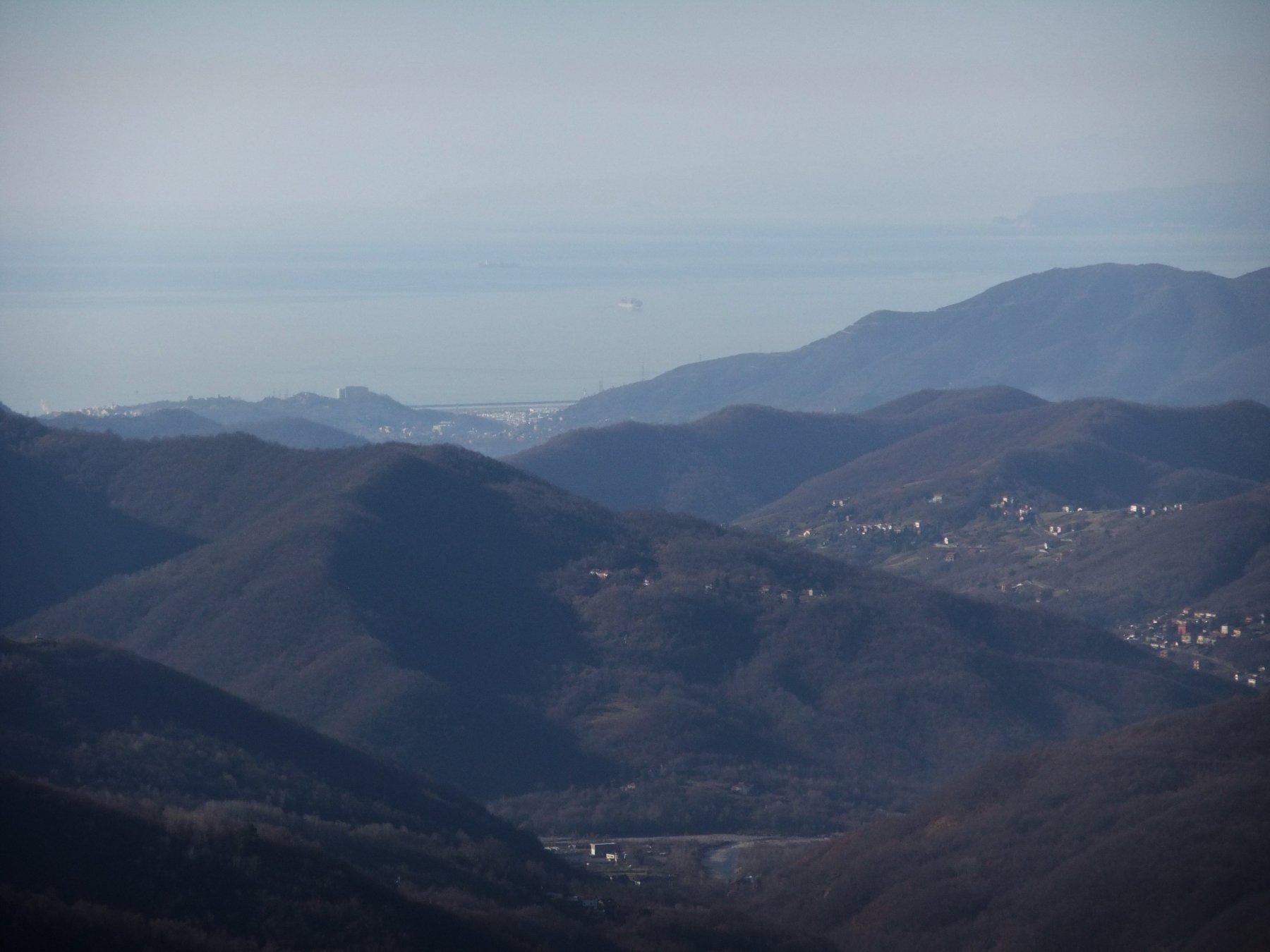 Dalla cima del Monte Cugno verso il Mare