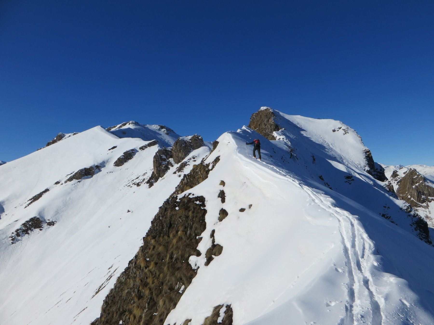 In cresta verso Rocca Albert