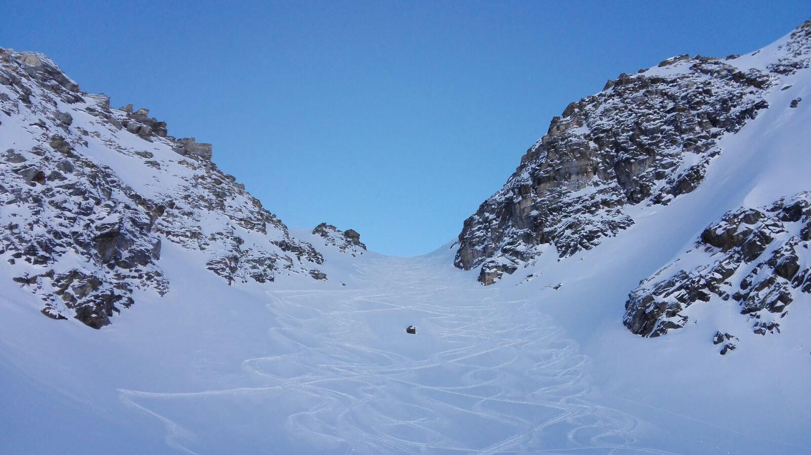 Corleans (Cresta di) forcella 2730 m e quota 2806 m da Mottes 2018-01-28