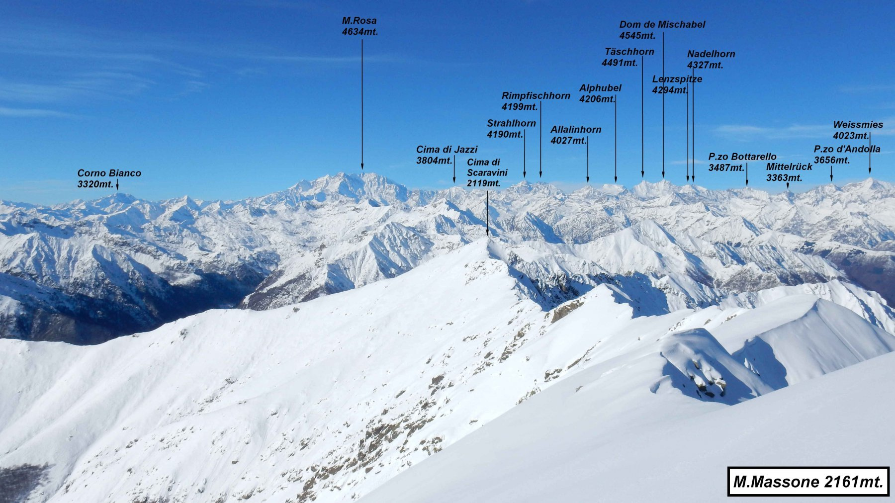 Panorama dal M.Massone.
