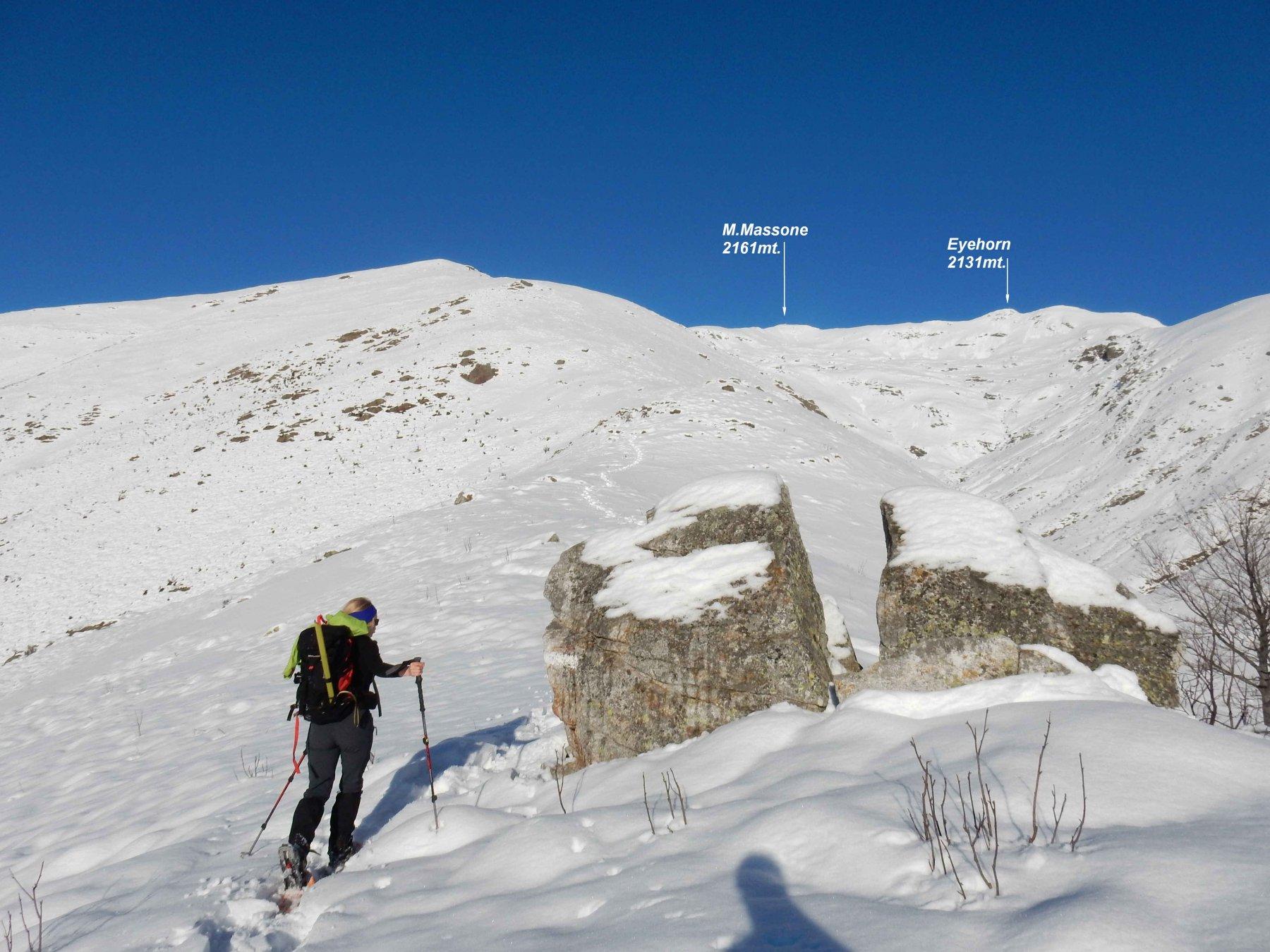 Sul primo tratto di cresta per il M.Massone.