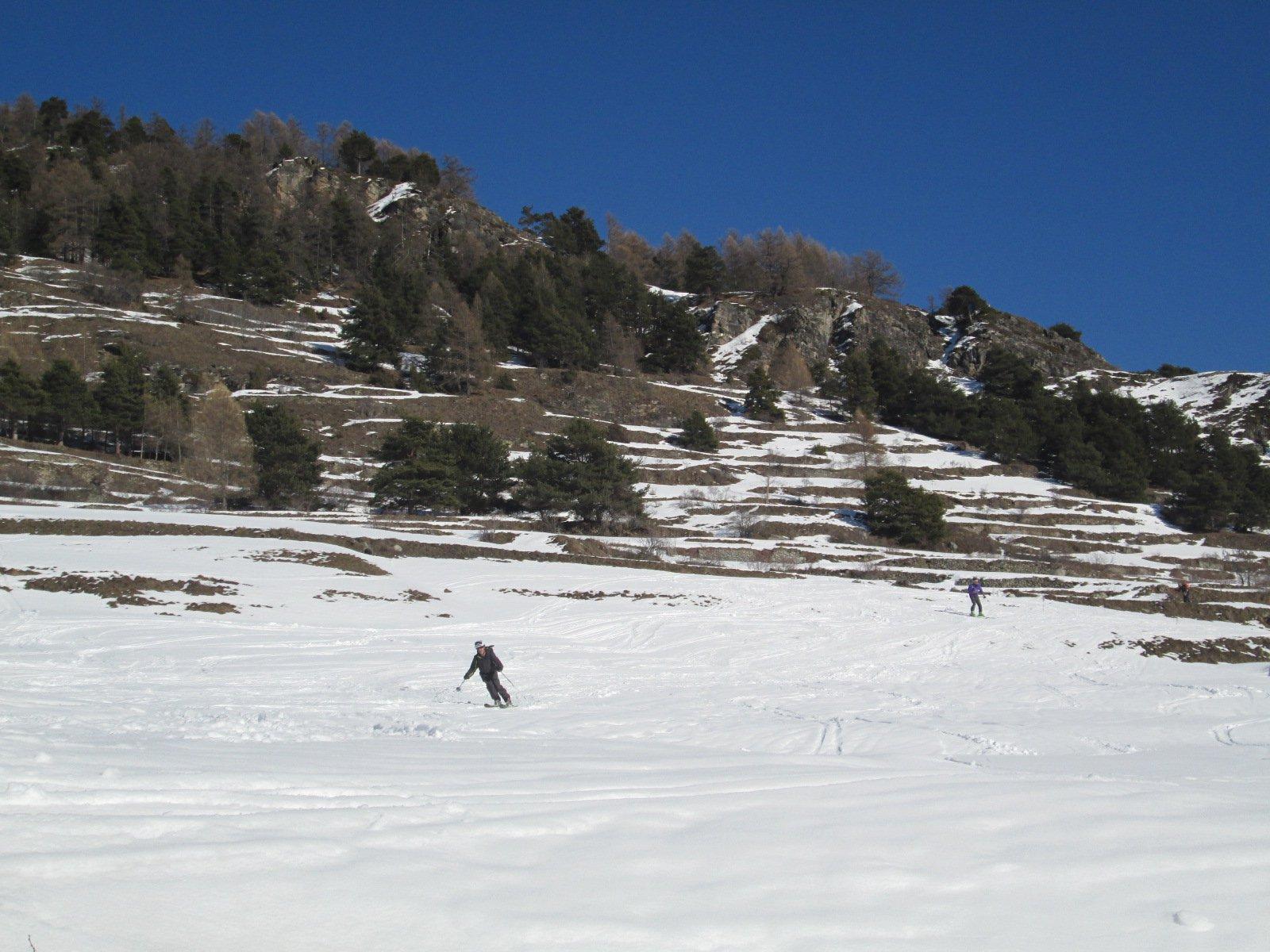 ultime curve su neve primaverile