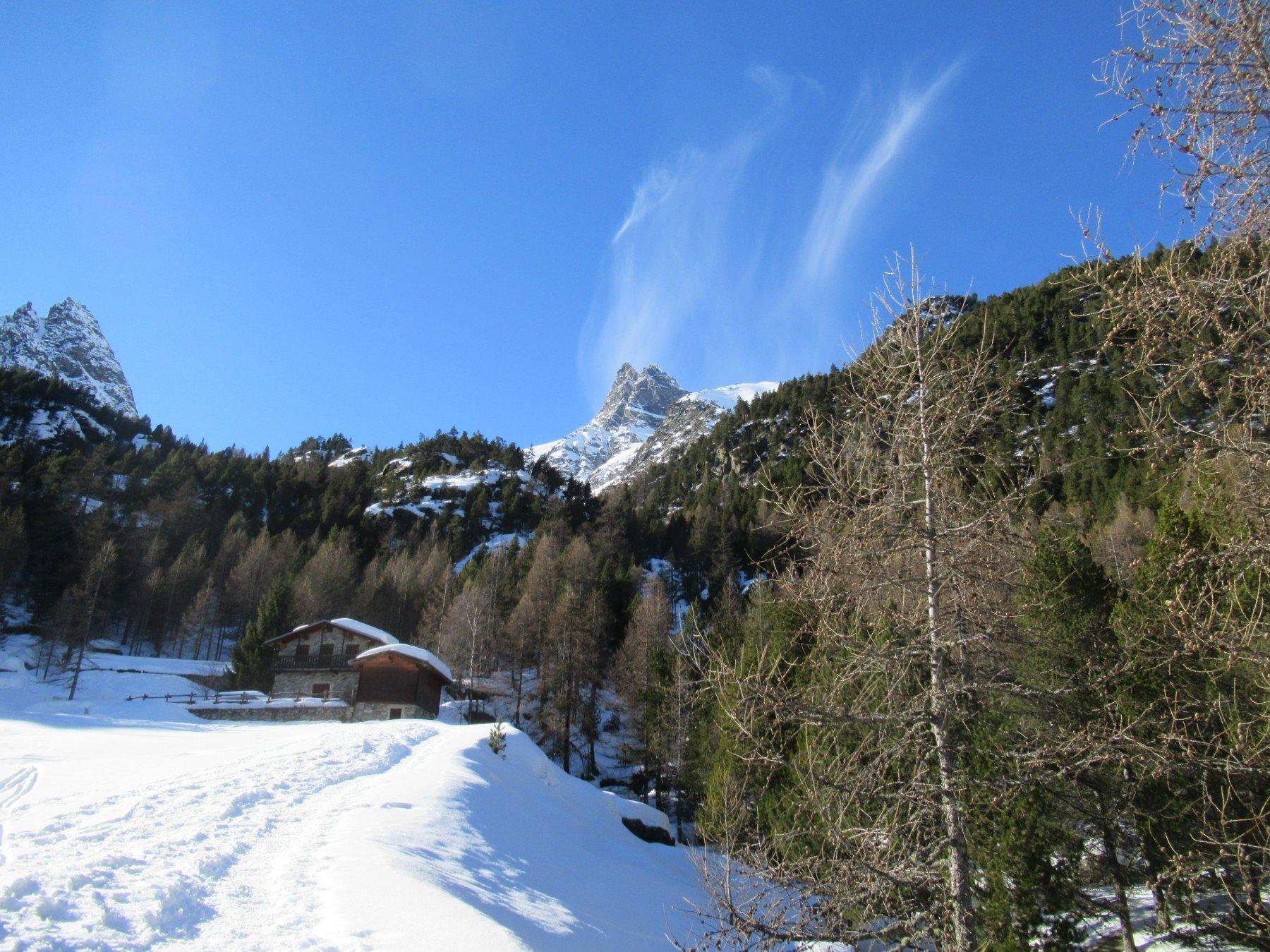 Nubi dipinte sul Mont Avic
