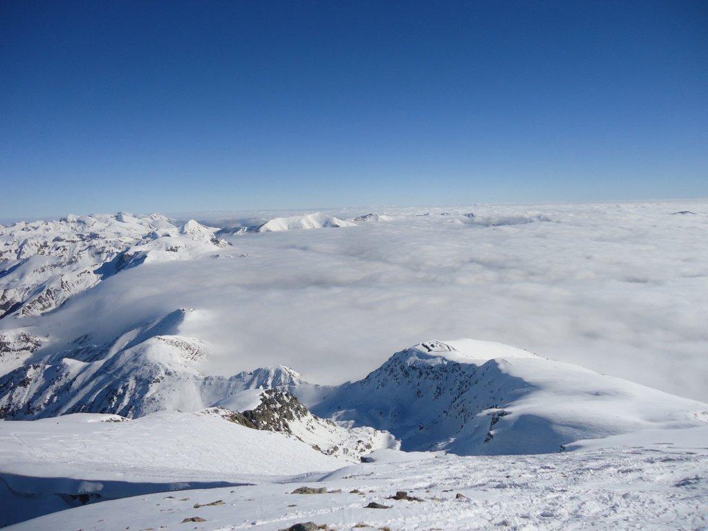 Mare di nubi dalla vetta