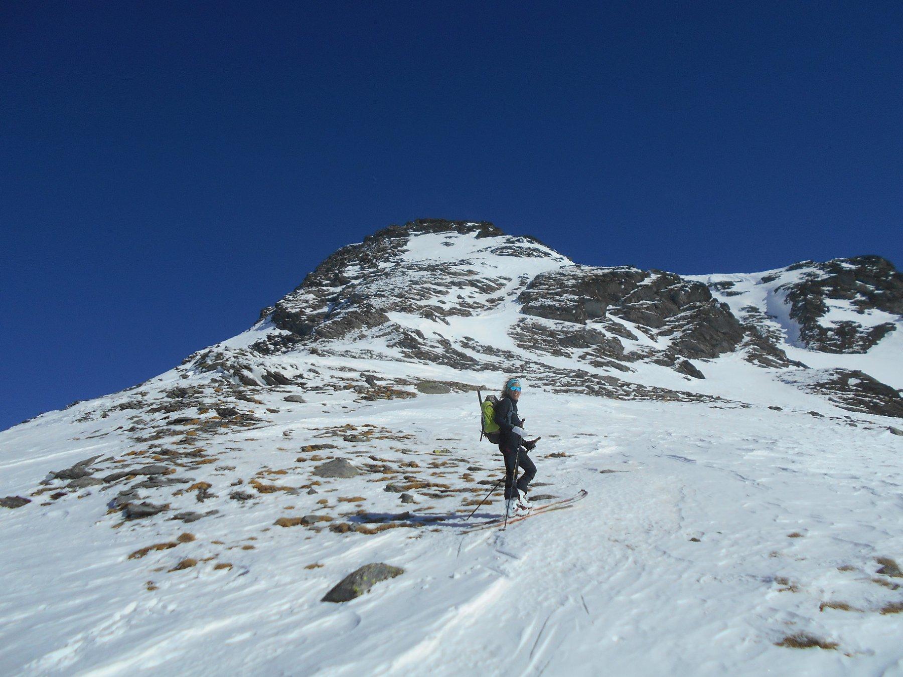 Mont Menouve e pendio di salita