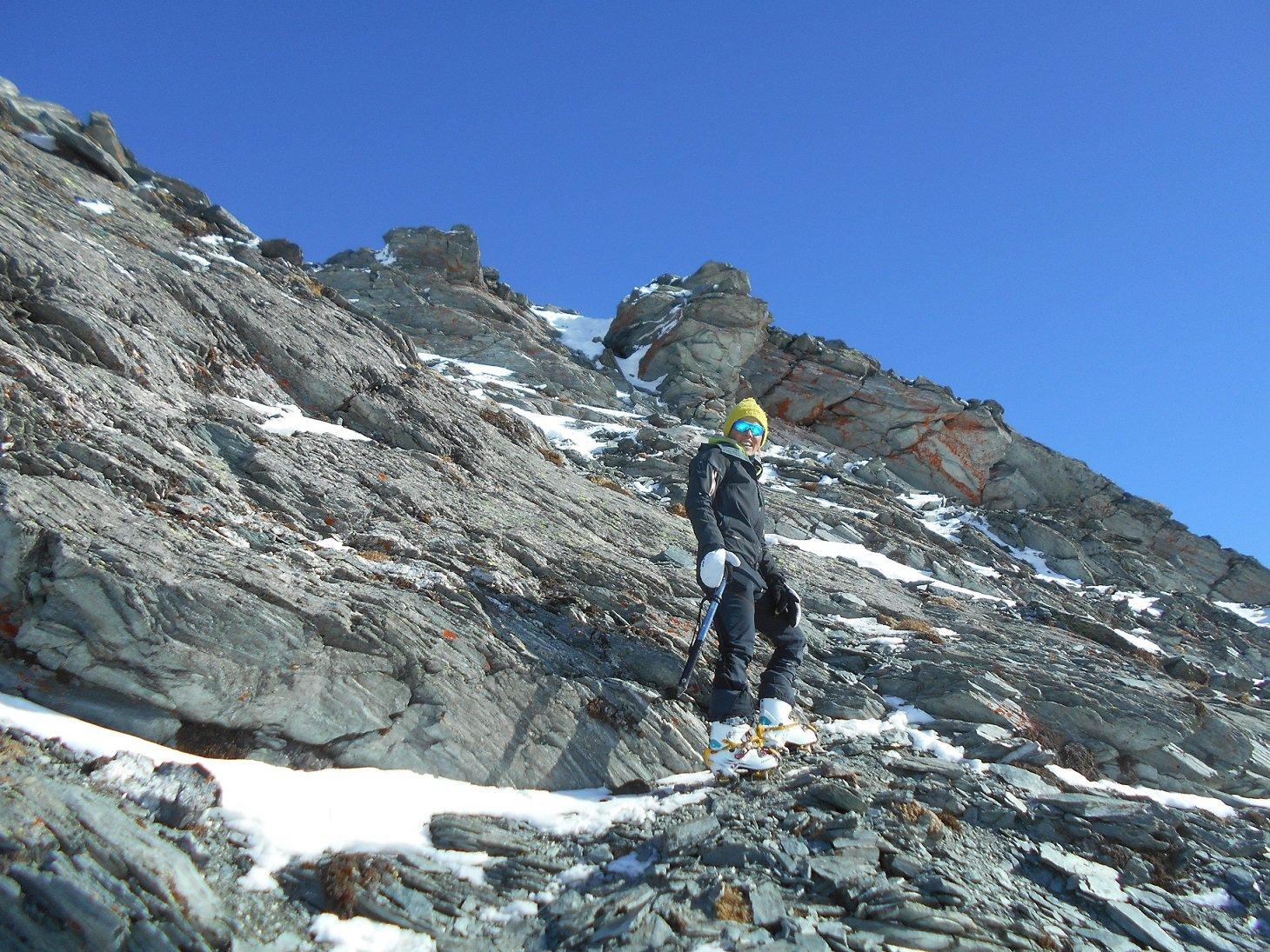 Ultime roccette sotto la cima